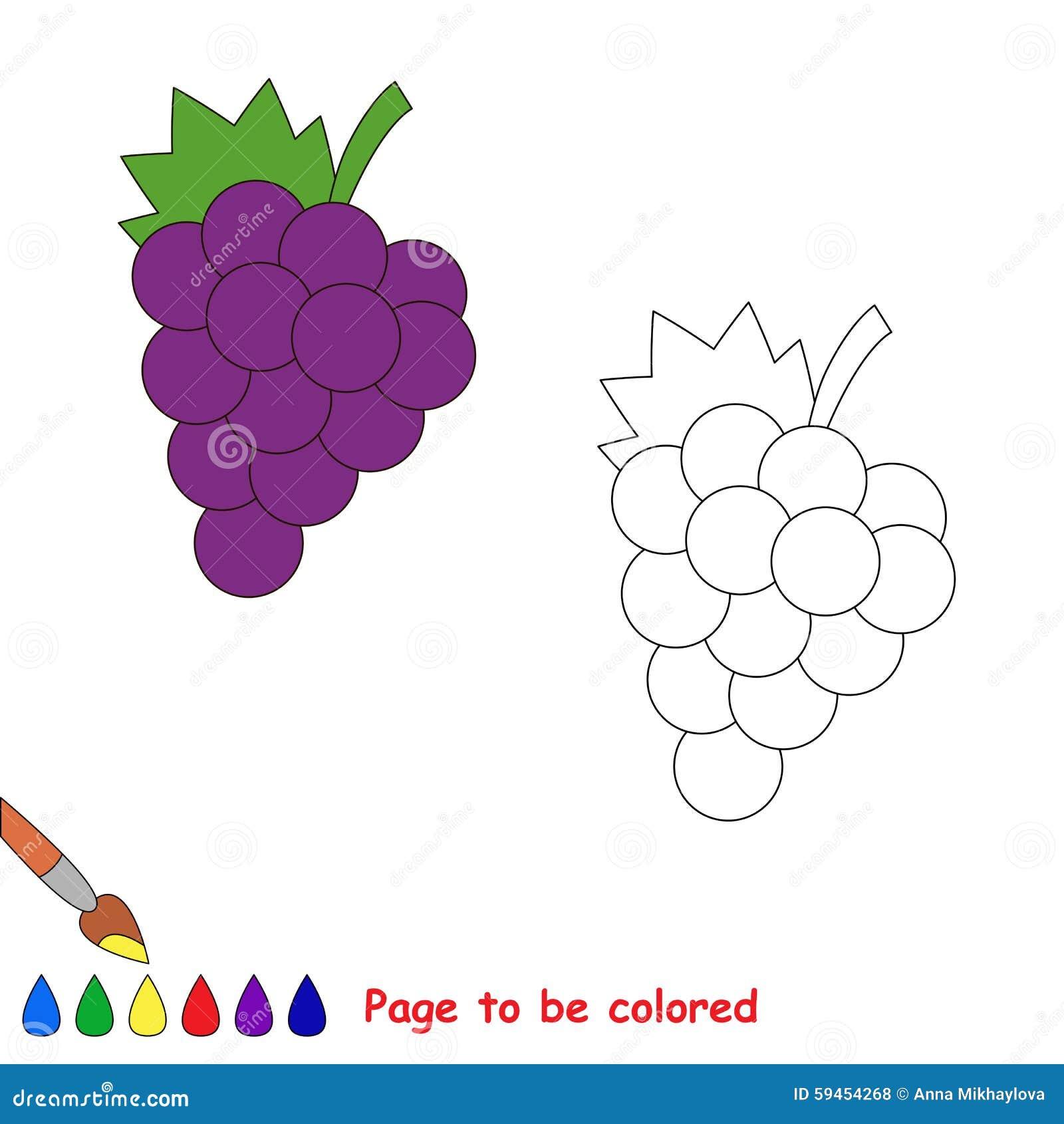 Uva Del Fumetto Da Colorare Illustrazione Vettoriale Illustrazione