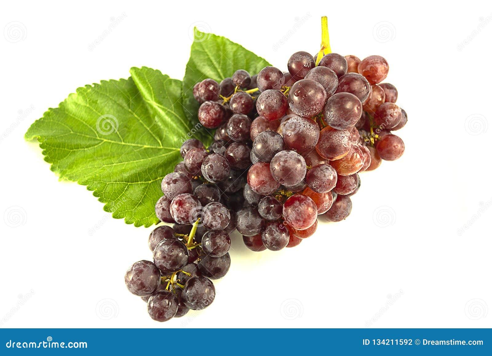 Uva roja en el fondo blanco