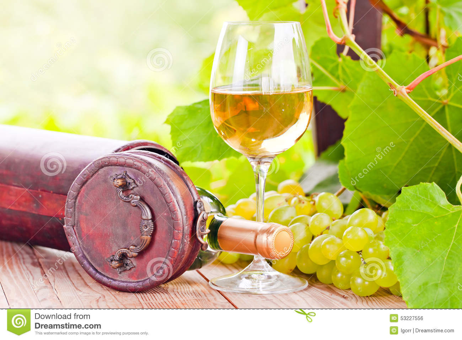 Uva y vino dulce