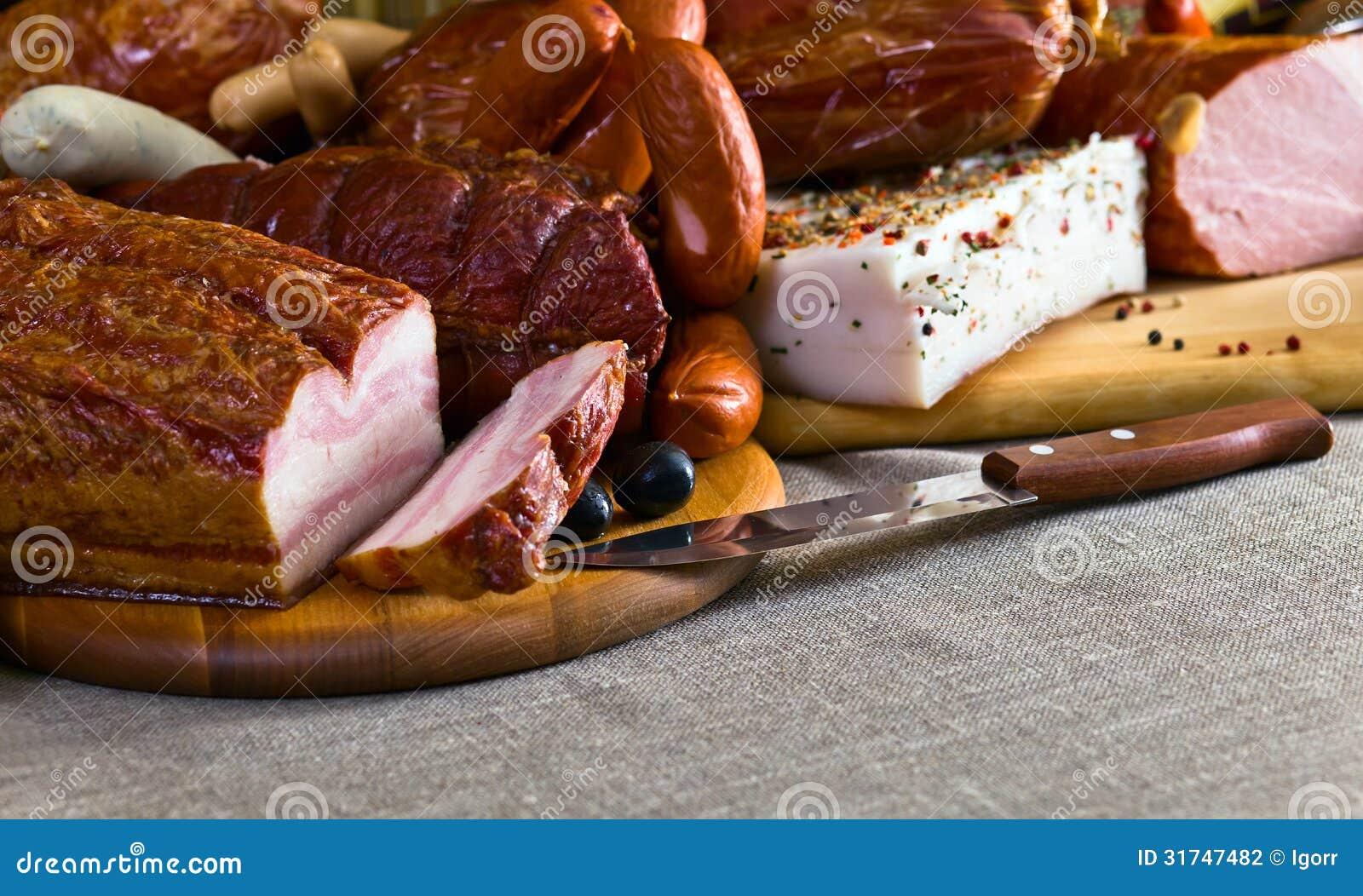 Uwędzony mięso