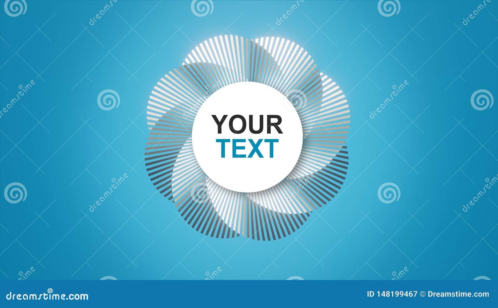 Uw tekst/embleem op een abstracte spiraal