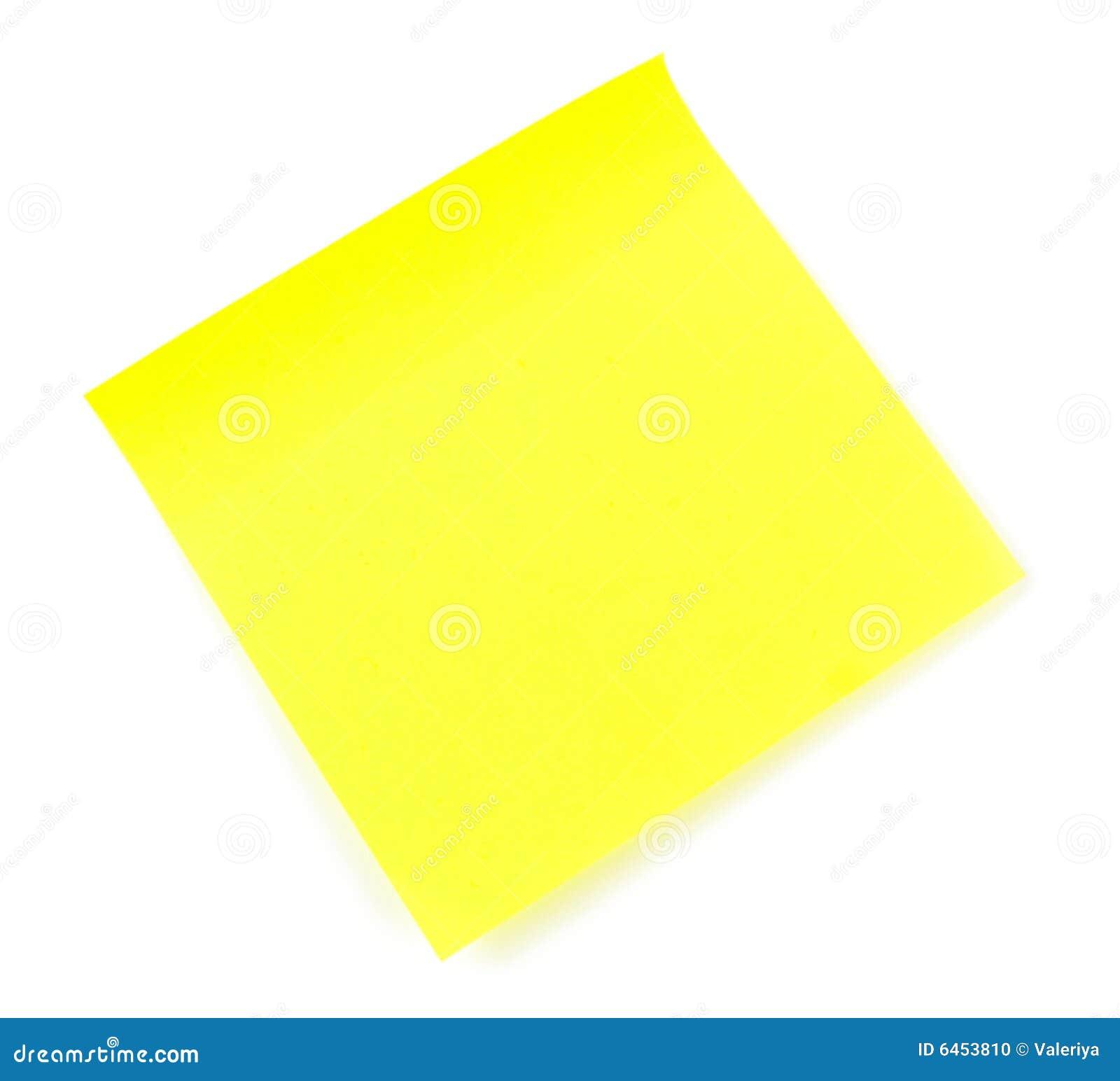 Uwaga mały lepkie żółty