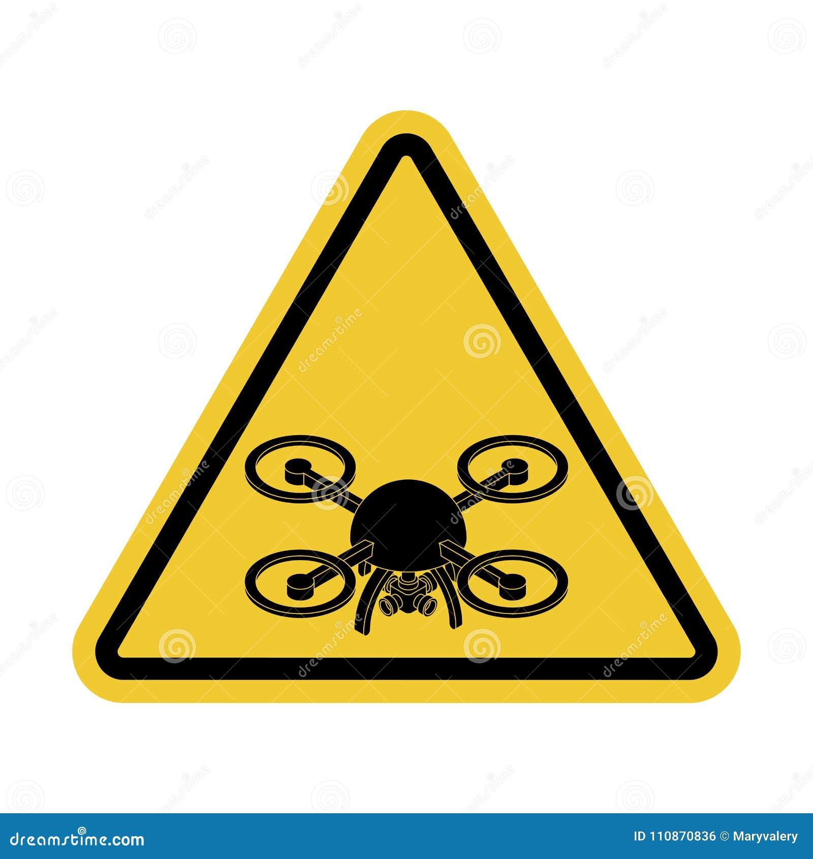 Uwagi quadrocopter Niebezpieczeństwo powietrzna fotografia Żółty Roa
