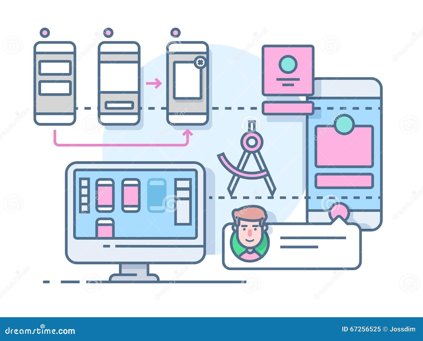 UX UI design flat