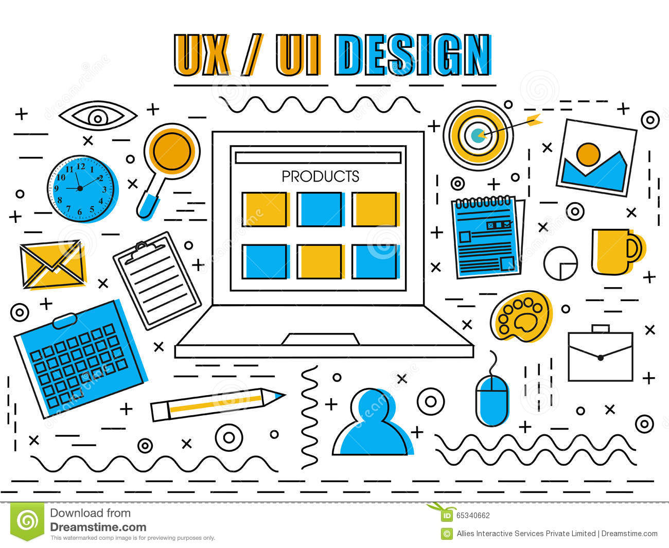 UX and UI design Infographic elements for Business.