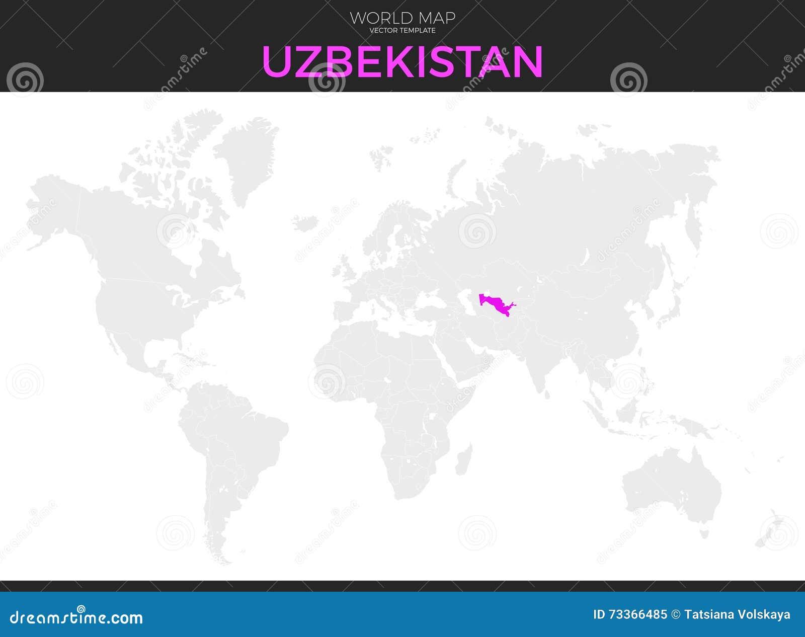 Uzbekistan Location Map stock vector. Illustration of ...