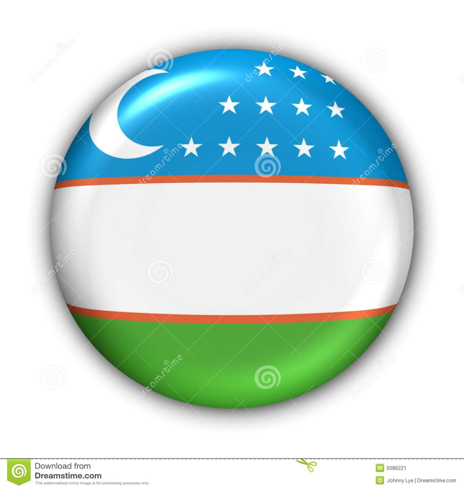 Uzbekistan-Markierungsfahne