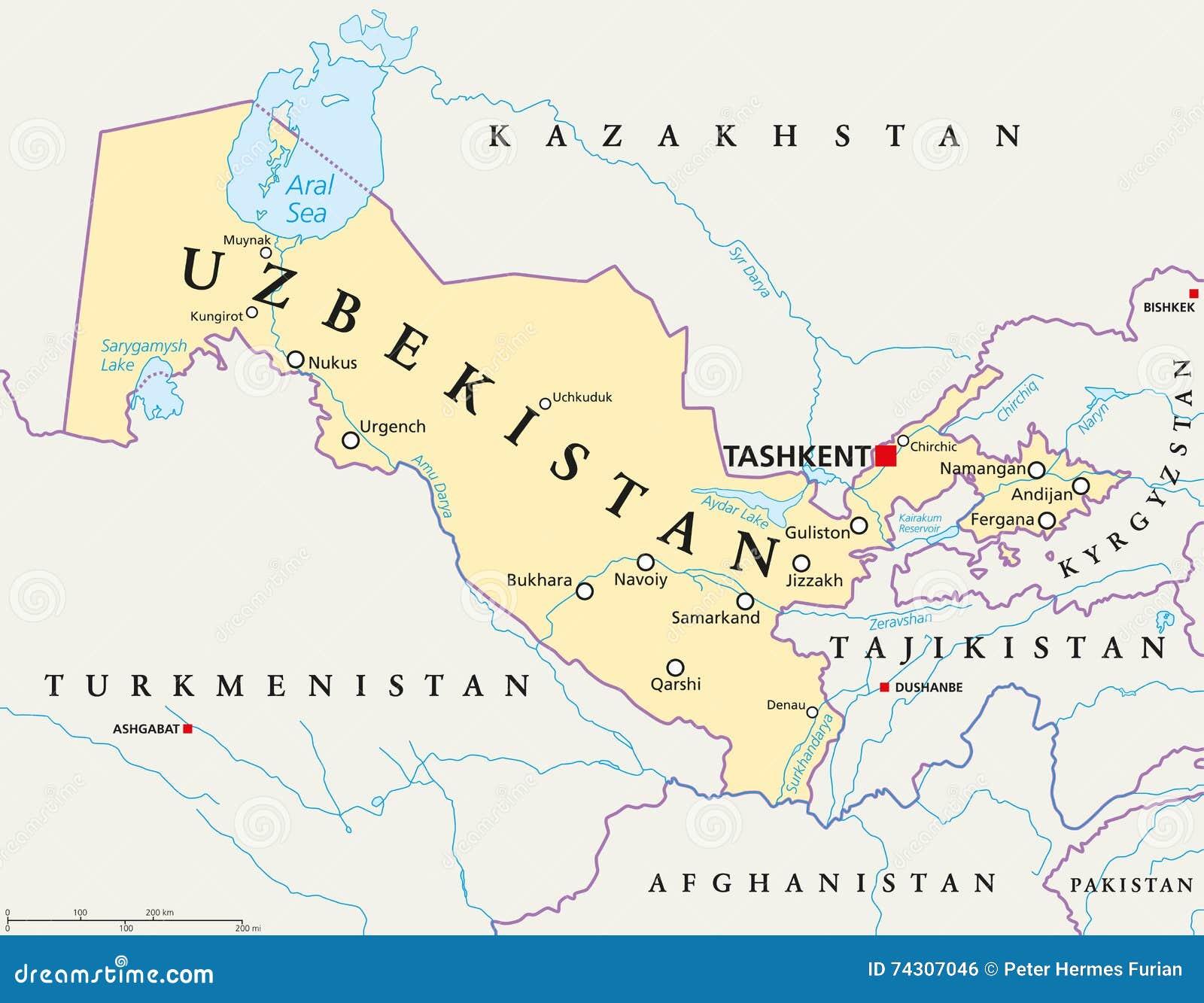 Uzbekistan Stock Illustrations Uzbekistan Stock - Uzbekistan map