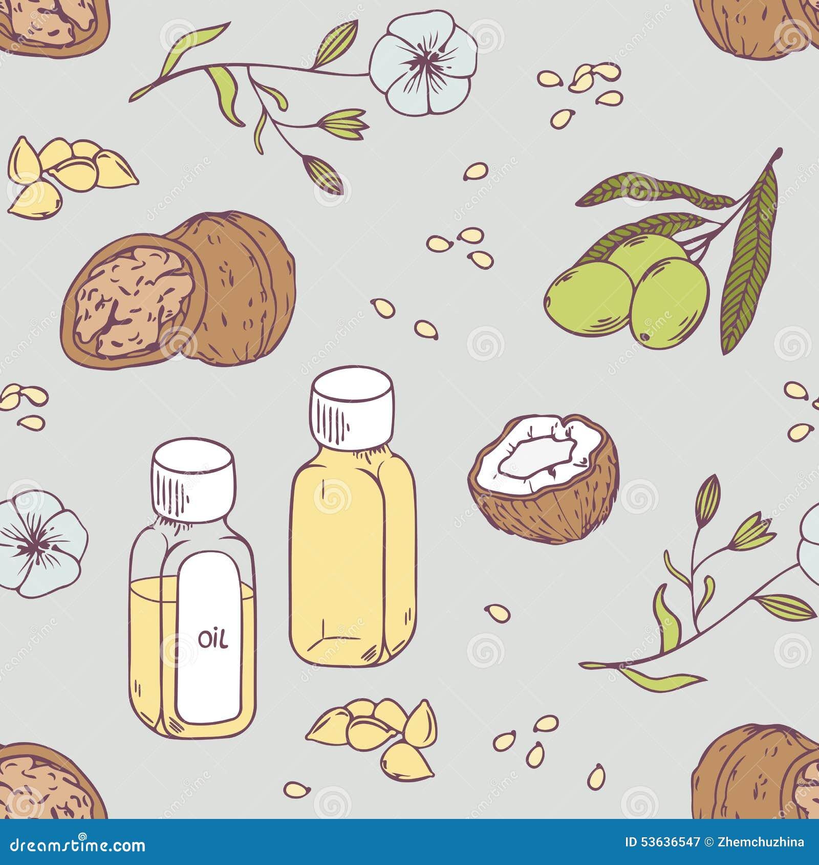 Uzdrawiać oleju bezszwowego wzór Zdrowy tło