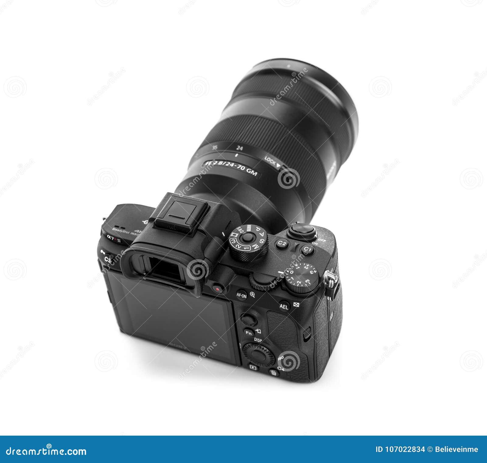 Sony Alpha A7r Iii Mirrorless Digital Camera Editorial Stock Image