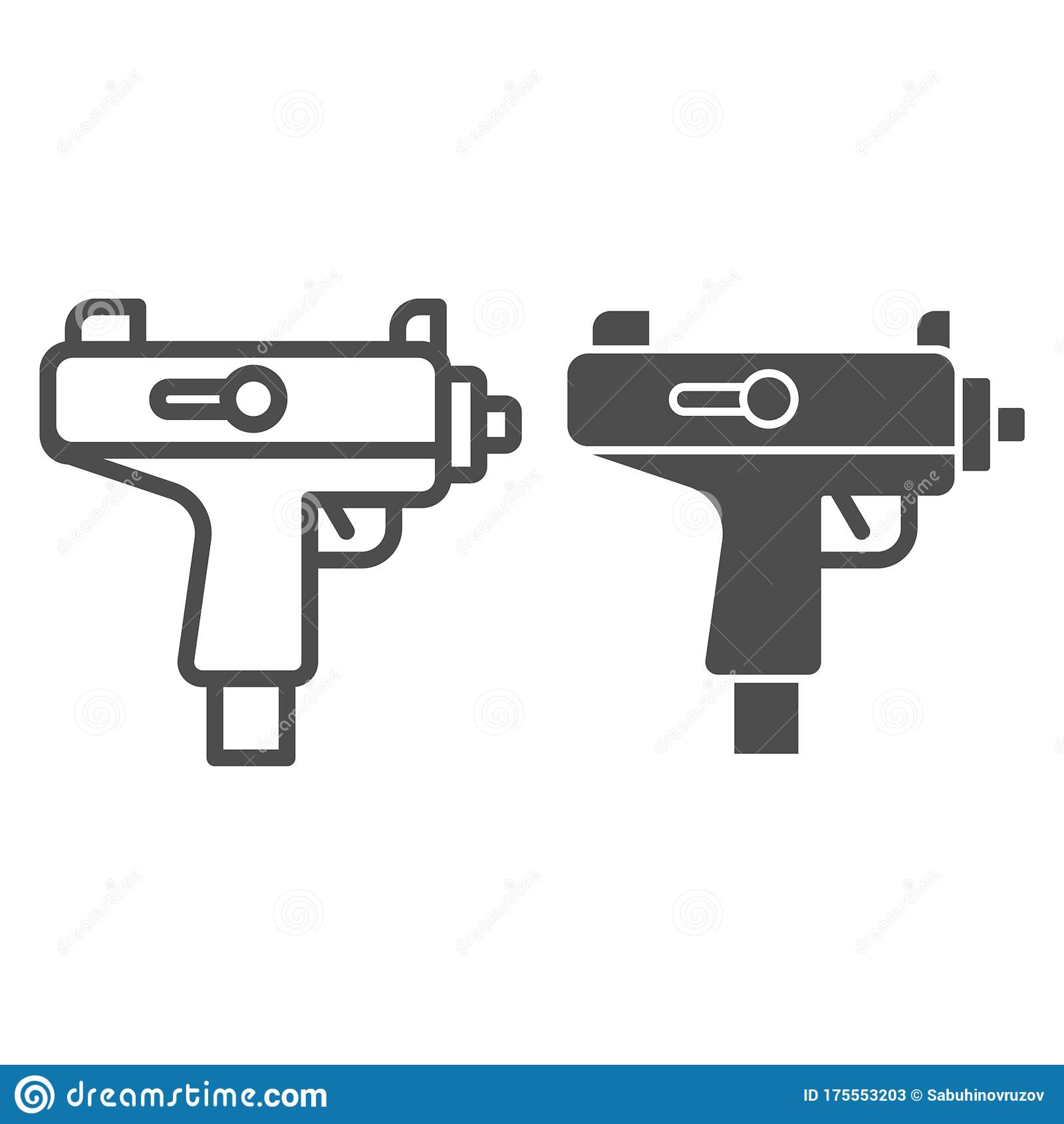 Uzi Submachine Gun Firearm - Machine Gun Vector Png, Transparent Png - vhv