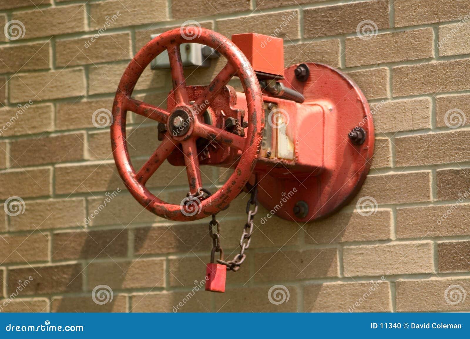 Válvula do cano principal do sistema de extinção de incêndios