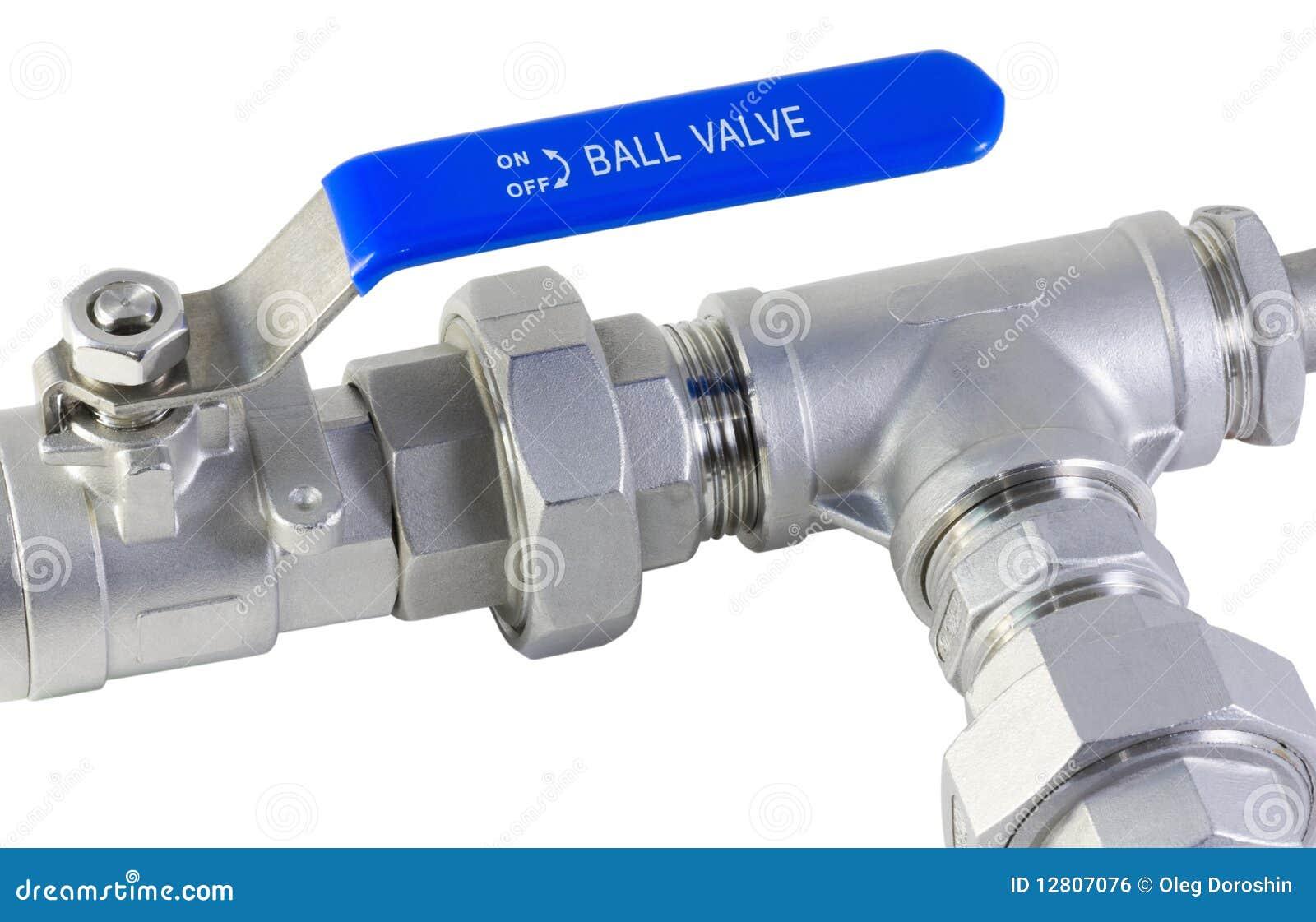 Válvula e tubulação de esfera