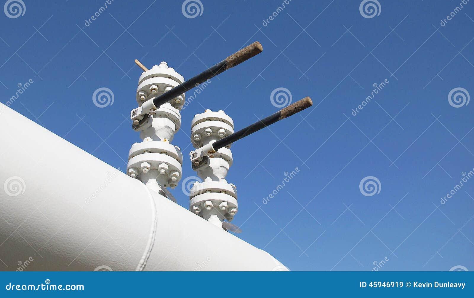 Válvulas verticales en un gaseoducto