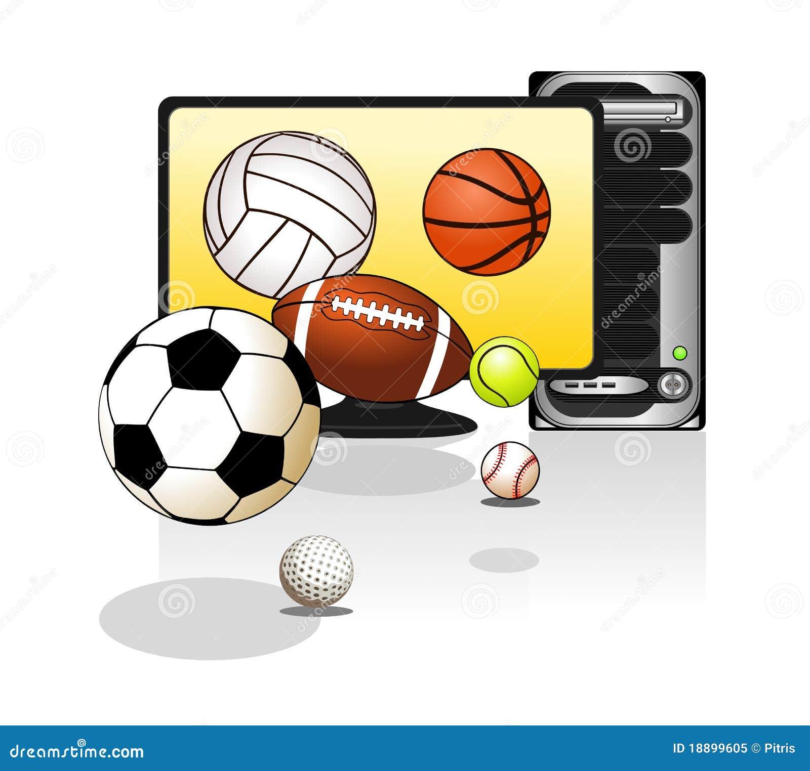 Várias esferas dos esportes
