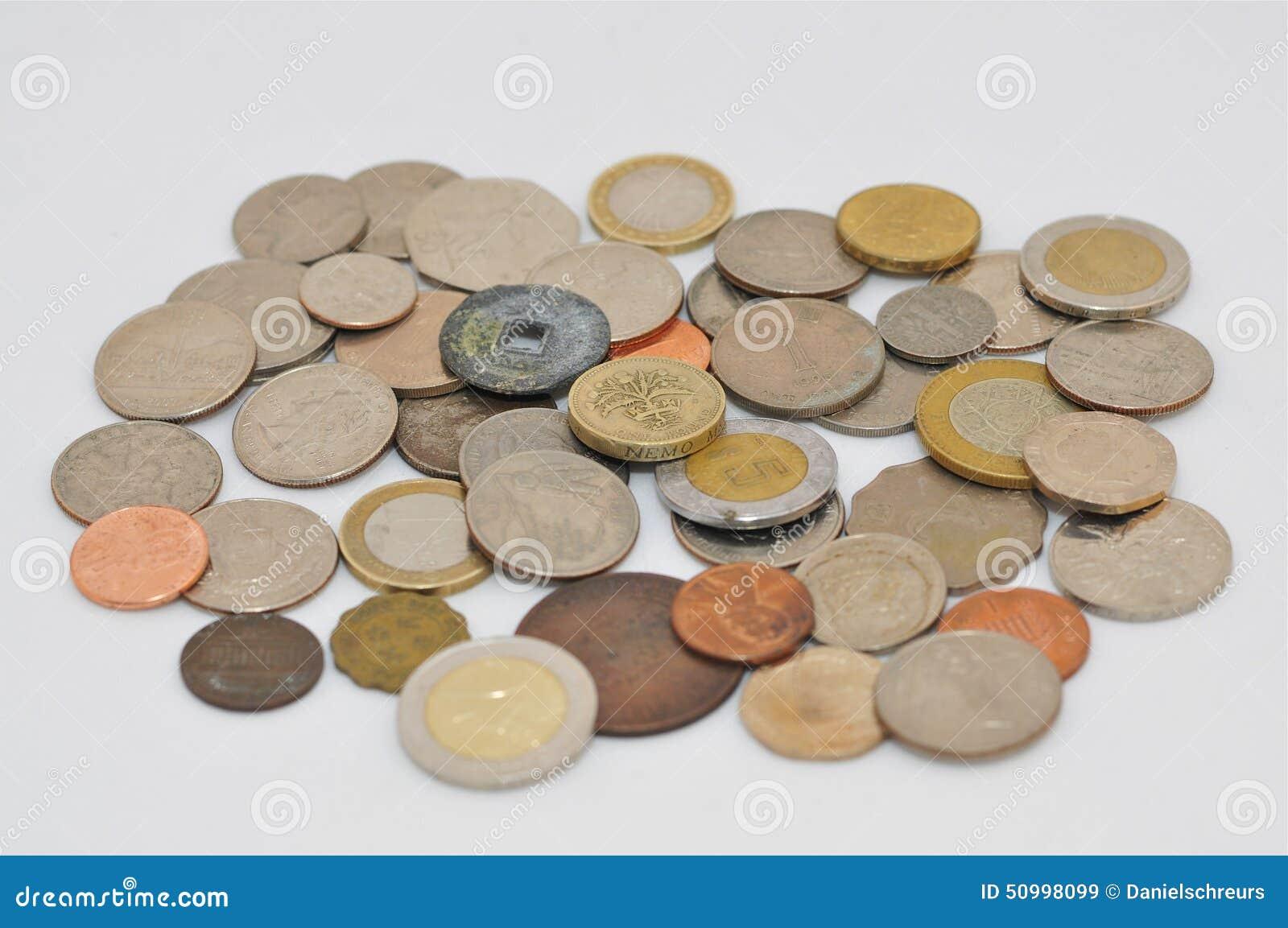 Várias moedas