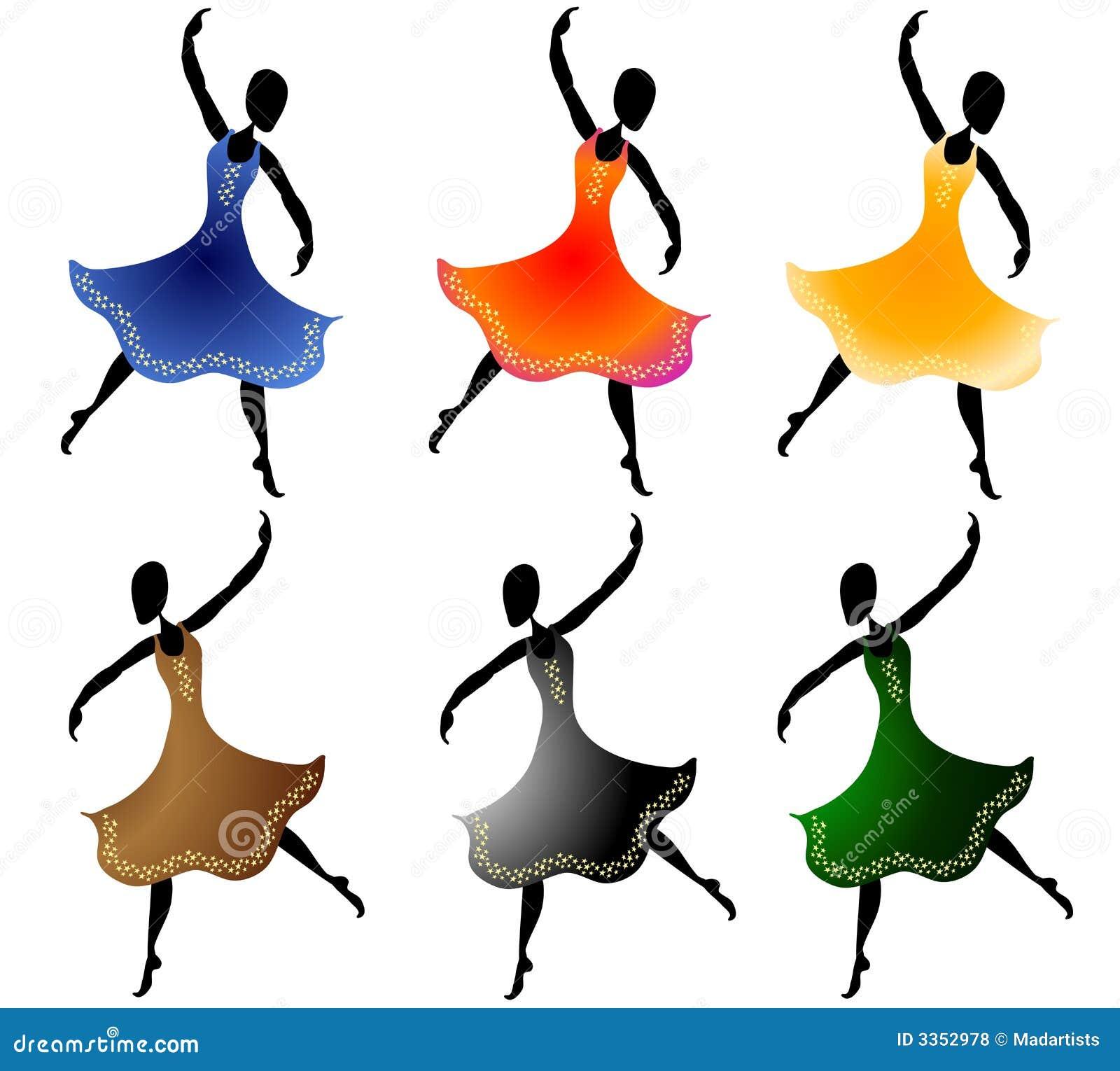 Várias mulheres que dançam a arte de grampo