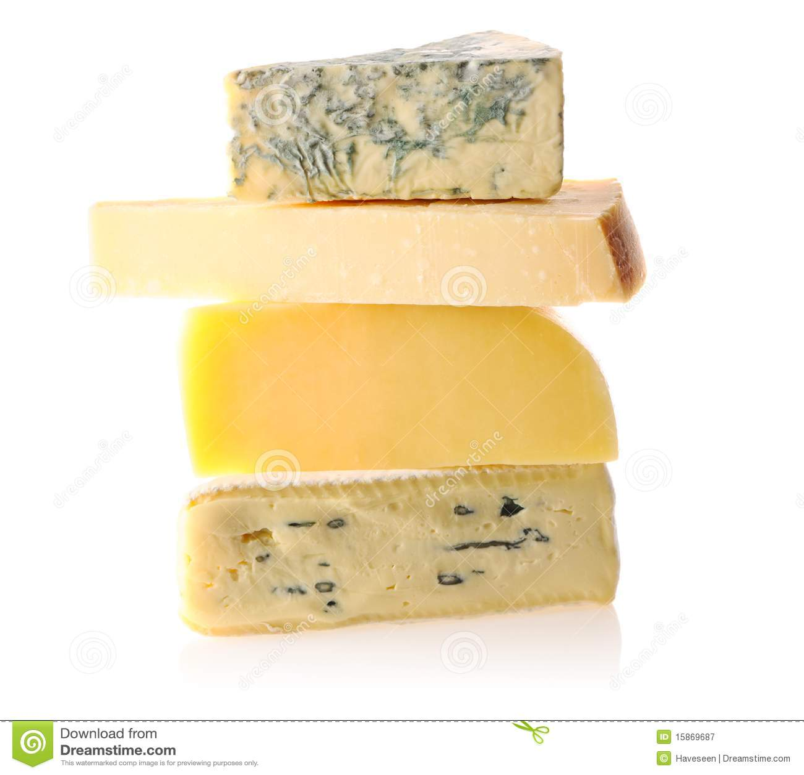Vários tipos de queijo