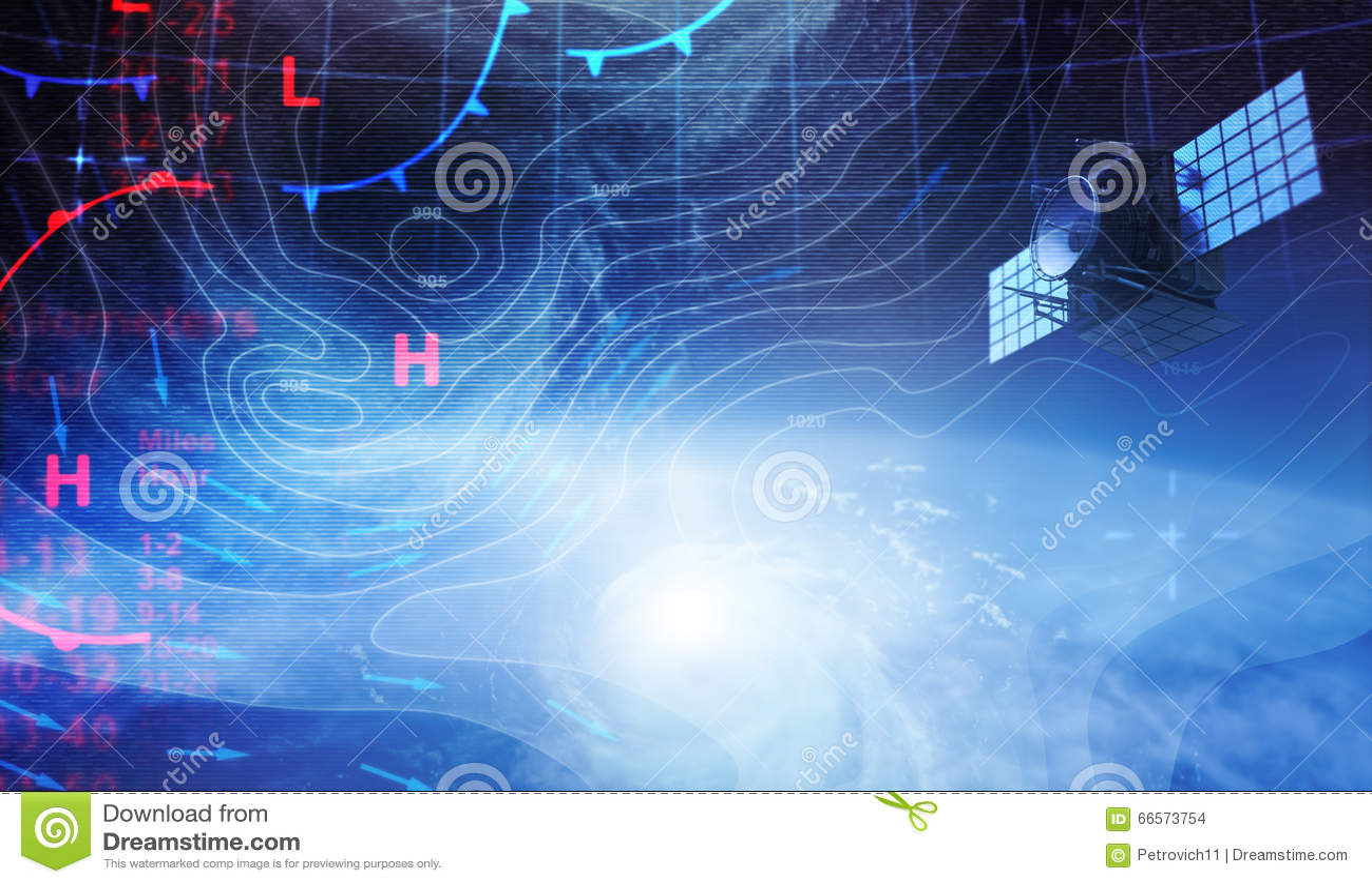 Väderöversikt i utrymme