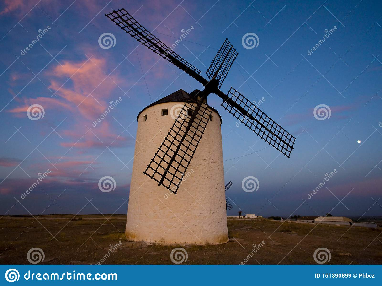 Väderkvarn Campo de Criptana, Castile-La Mancha, Spanien