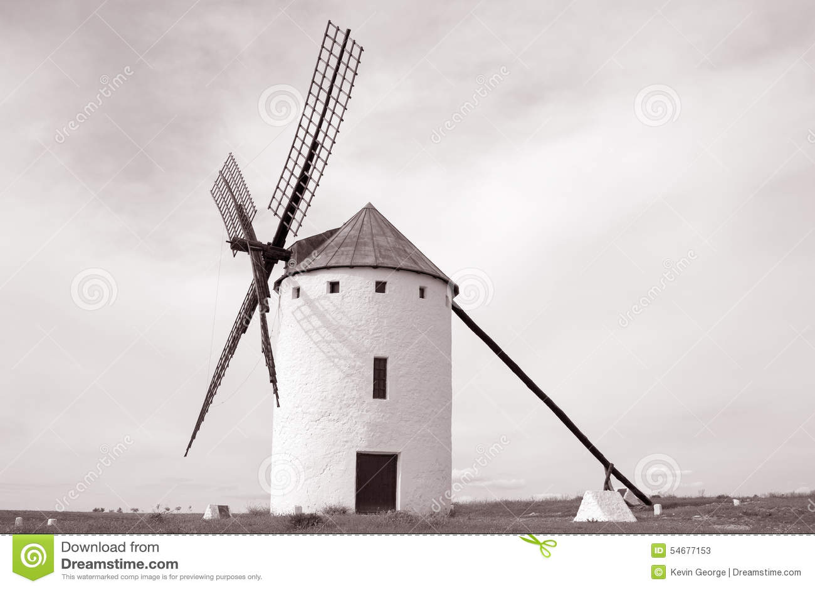 Väderkvarn; Campo de Criptana; Castilla La Mancha; Spanien