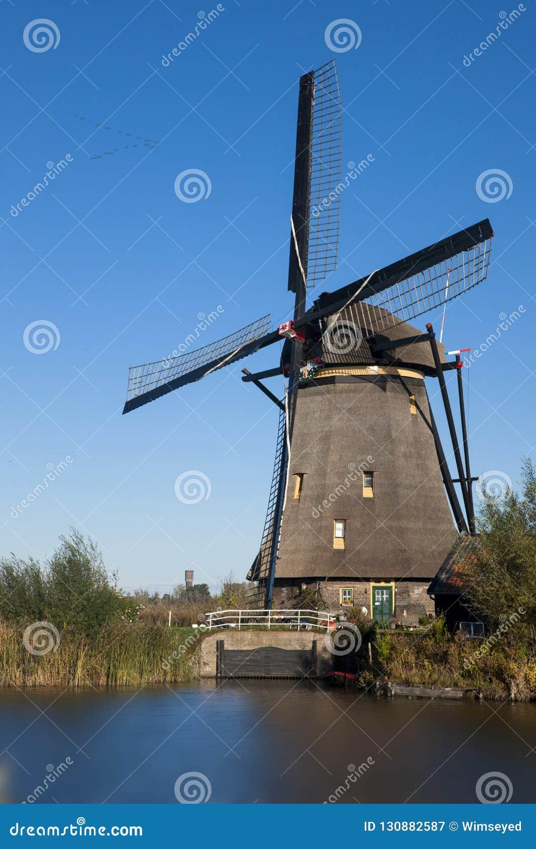 Väderkvarn på Kinderdijk, Nederländerna