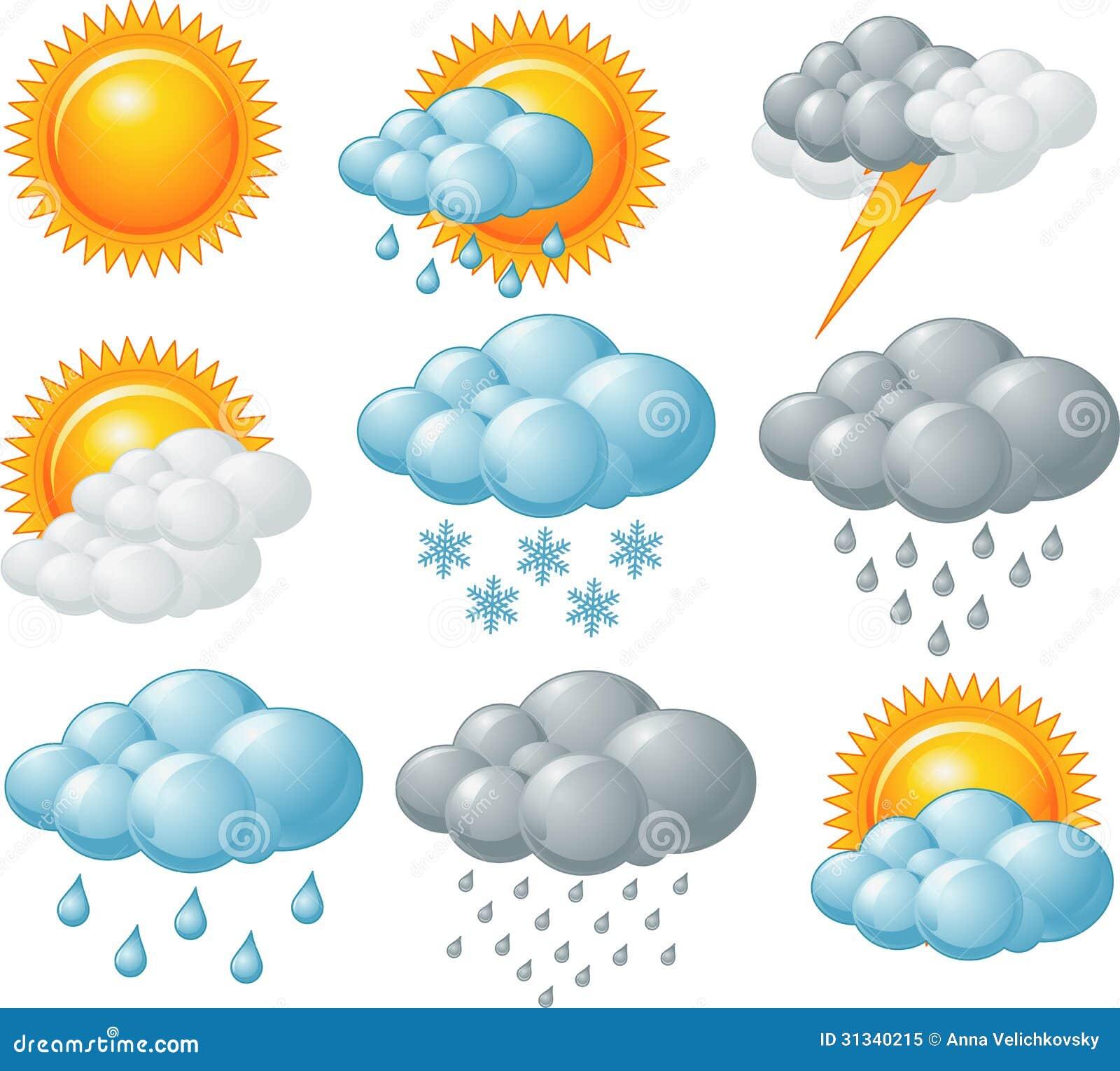 Vädersymboler Royaltyfri Foto - Bild: 31340215