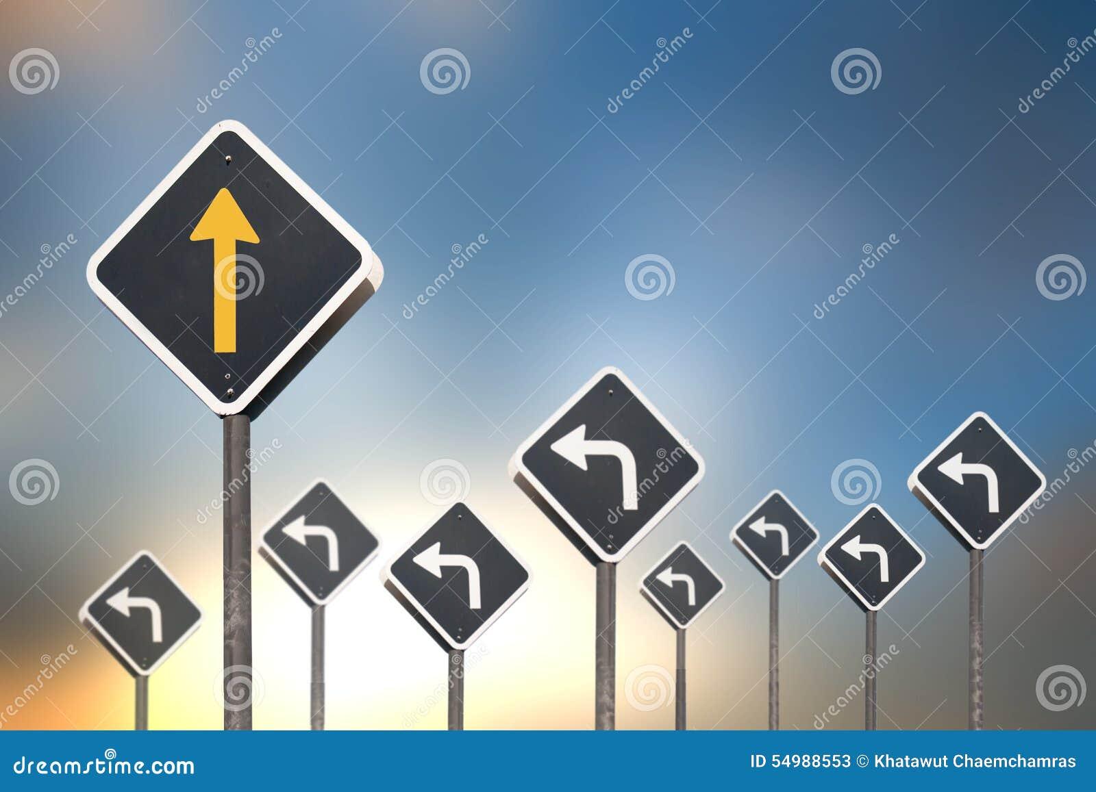 Vägbegrepp vid trafiktecknet