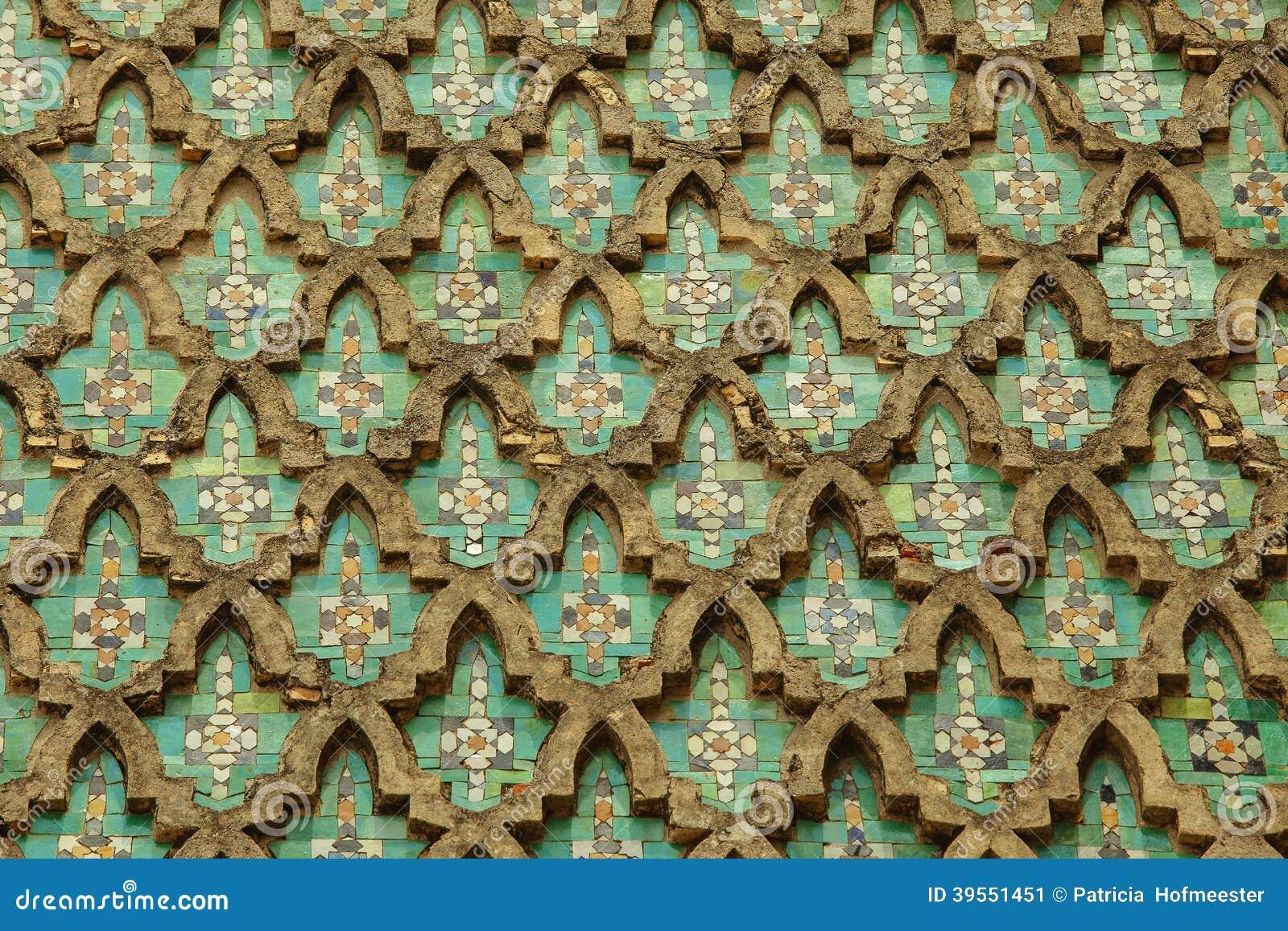 Vägg av Bab el Mansour i Meknes