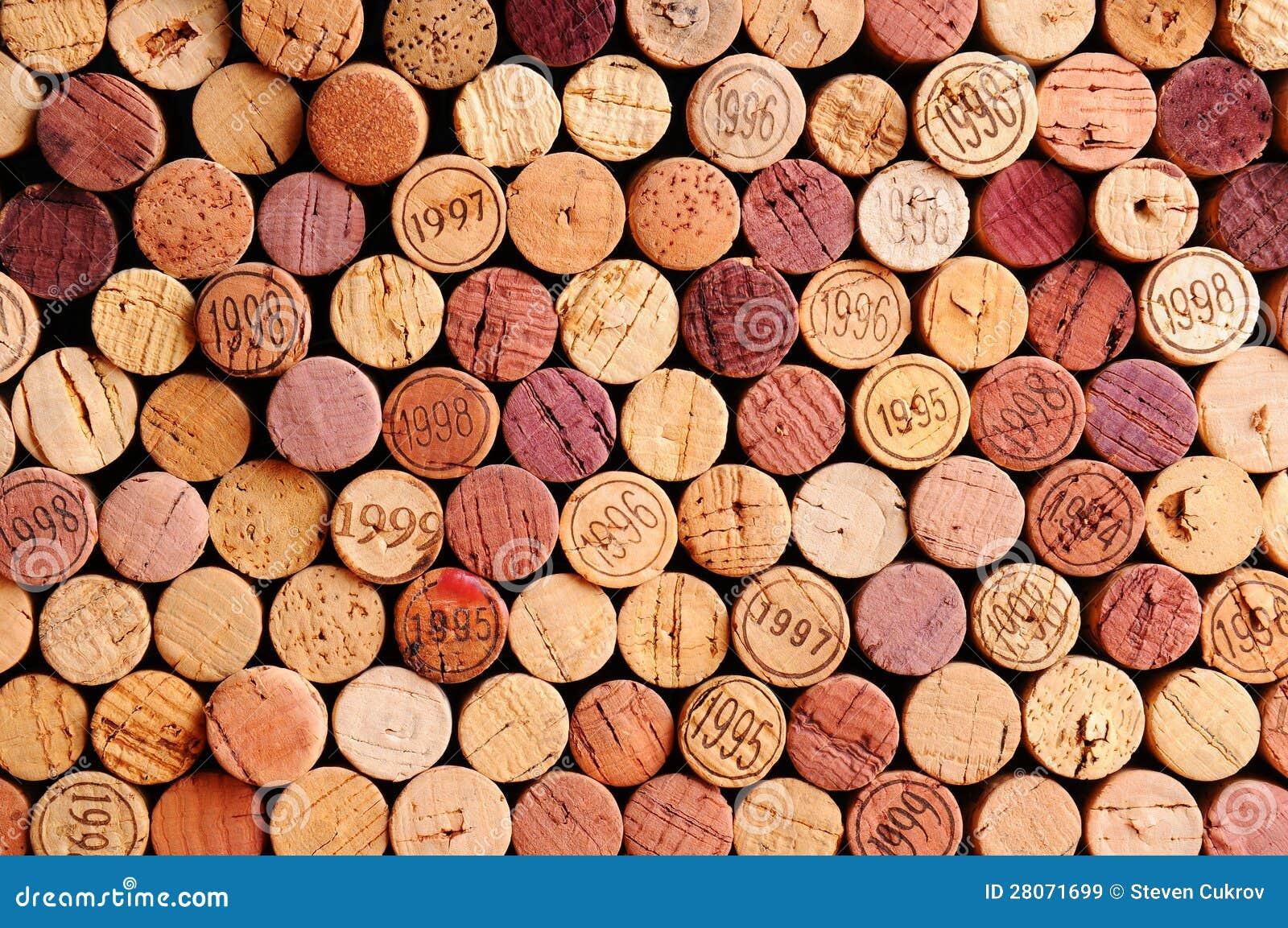 Väggen av Wine korkar