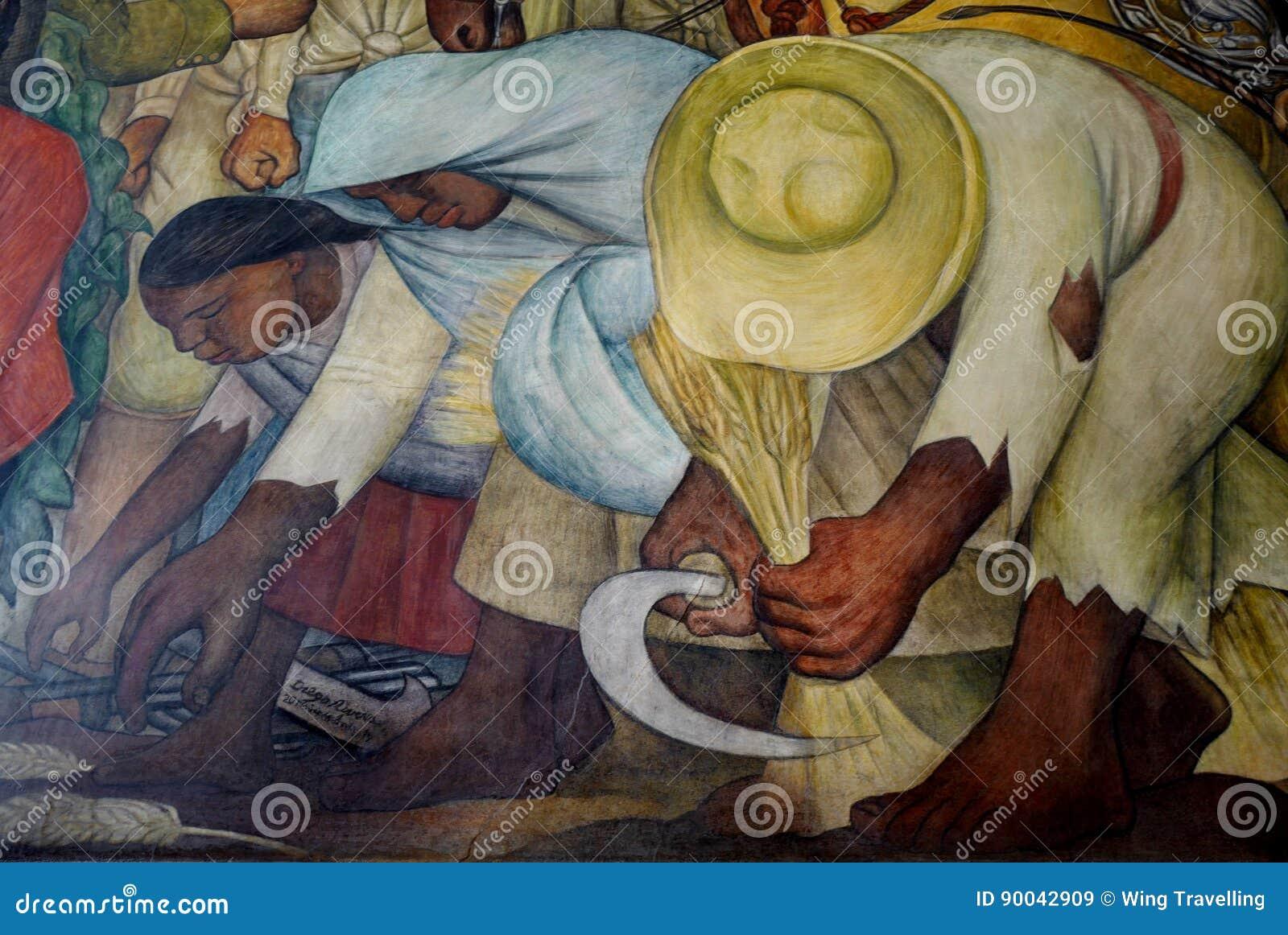 Väggmålning av Diego Rivera, Mexico
