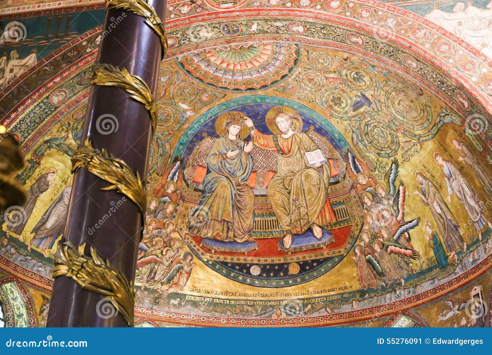 Väggmålningar av St Peter Basilica, Vaticanen