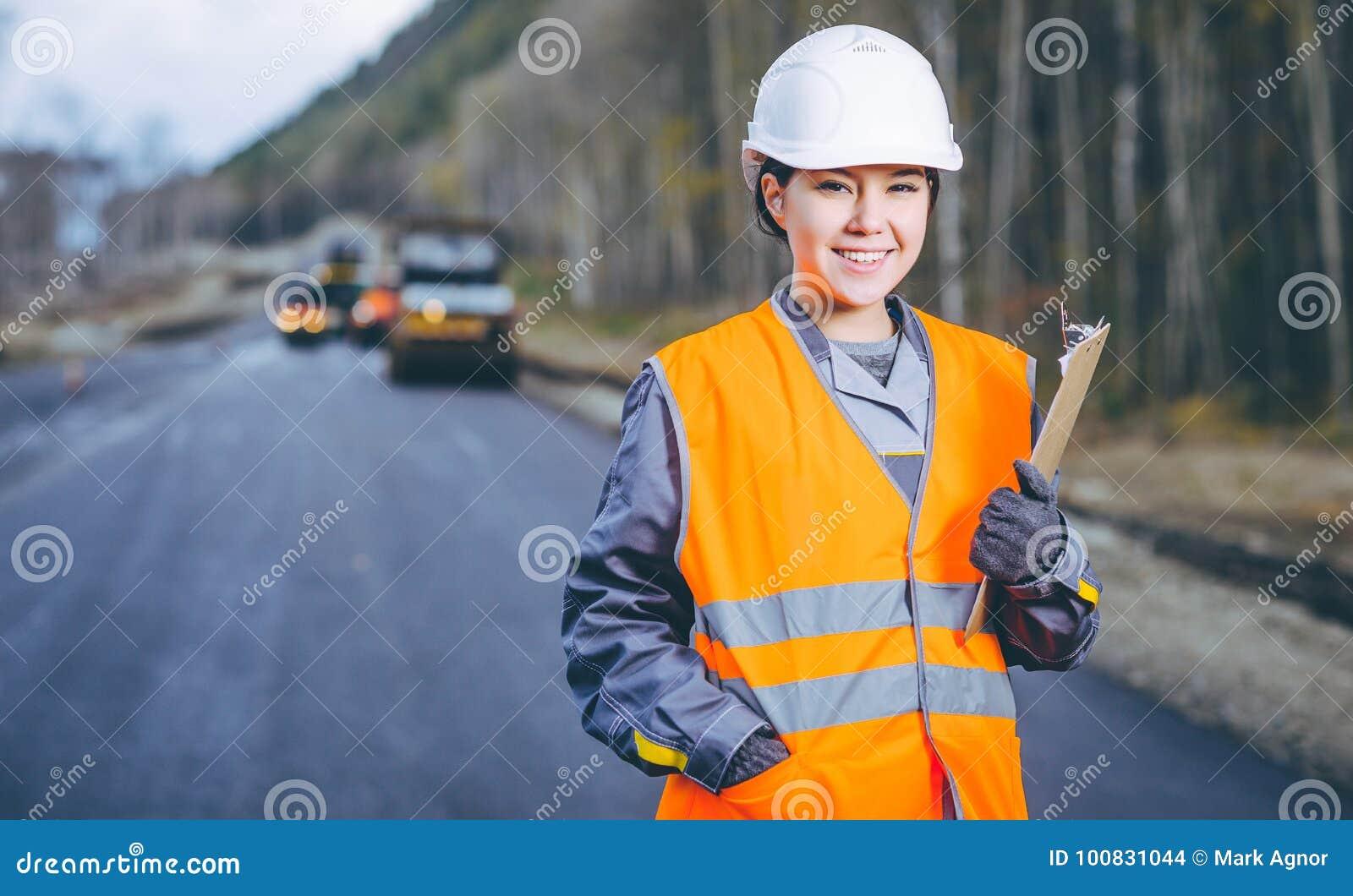 Vägkonstruktion för kvinnlig arbetare