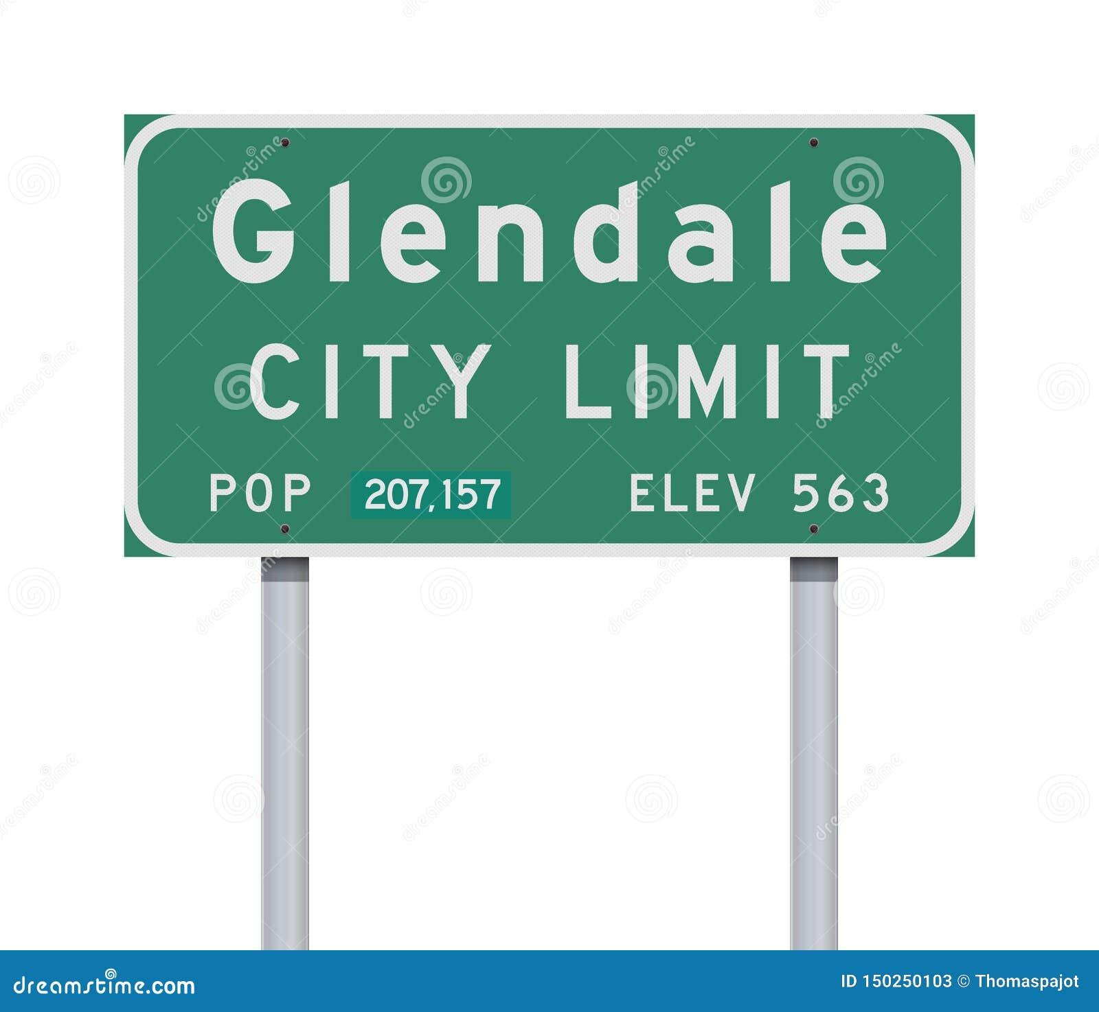 Vägmärke för Glendale stadsgräns