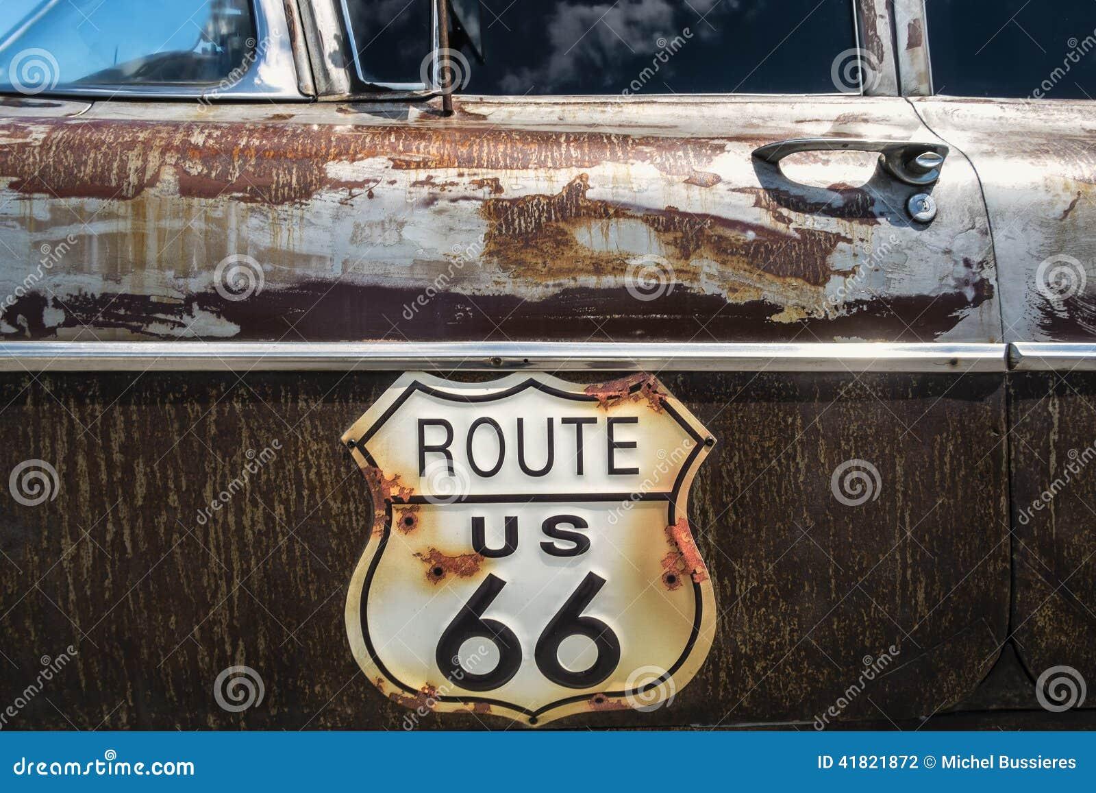 Vägmärke för Route 66