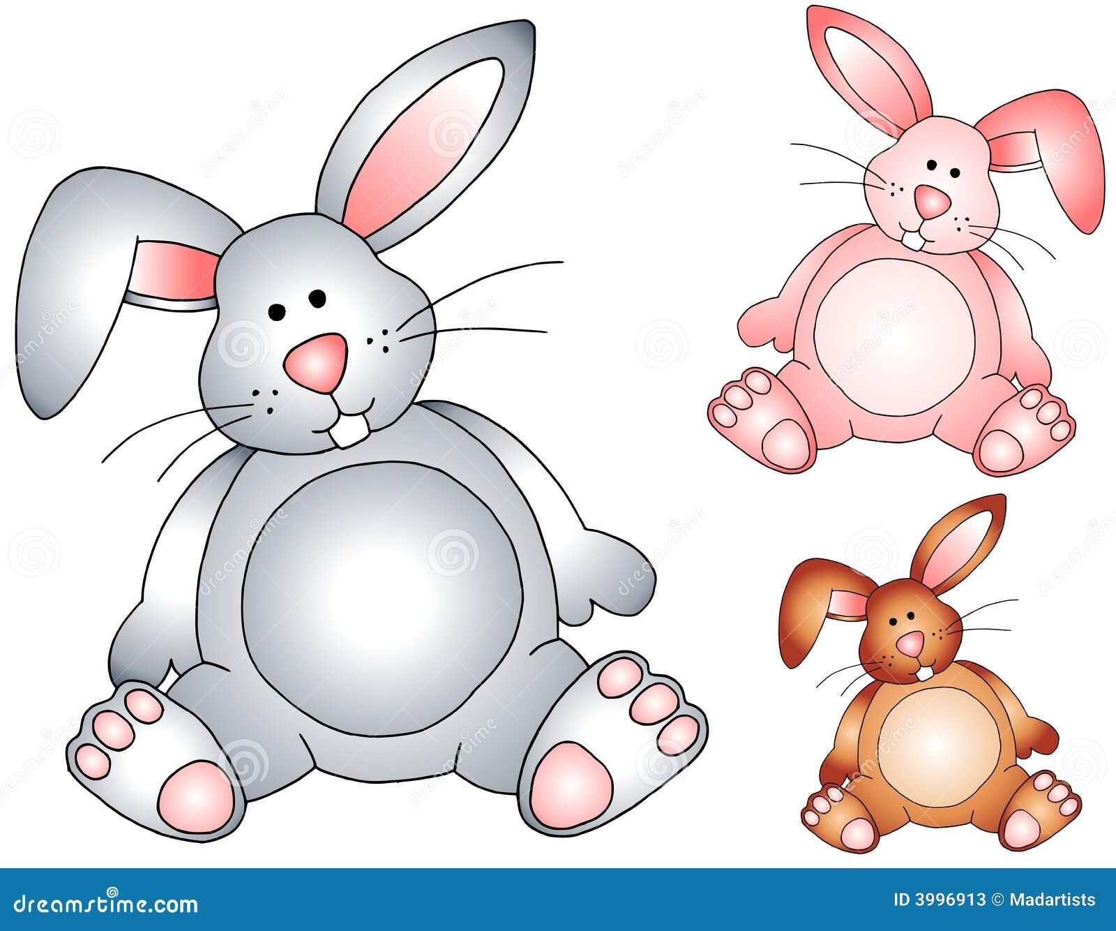 Välfyllda toys för kanineaster kaniner