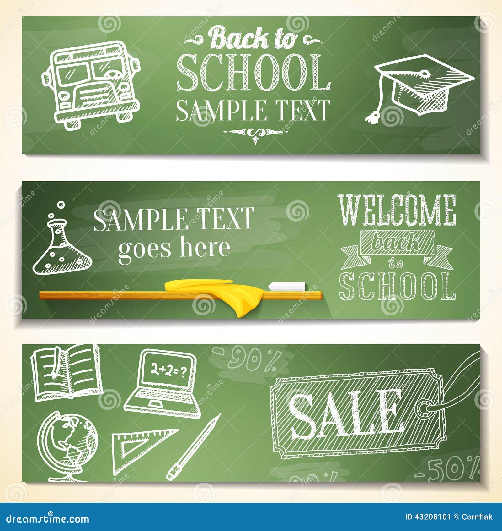 Download Välkomna Tillbaka Till Skolameddelanden På Den Svart Tavlan Vektor Illustrationer - Illustration av lock, design: 43208101
