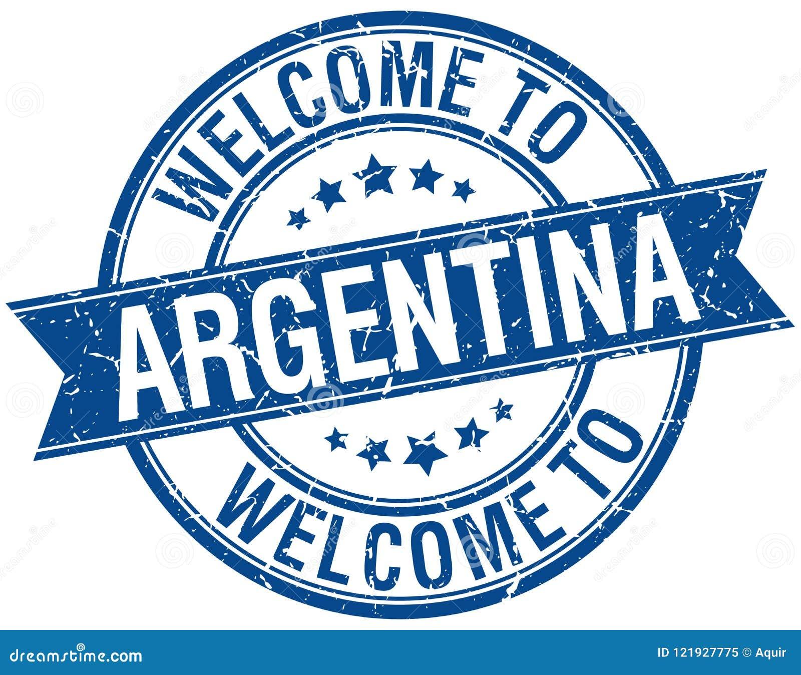 Välkomnande till den Argentina stämpeln