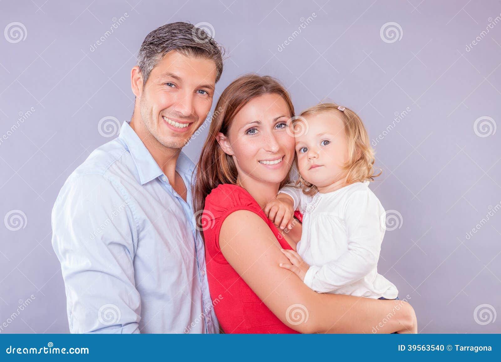 Vänlig familj
