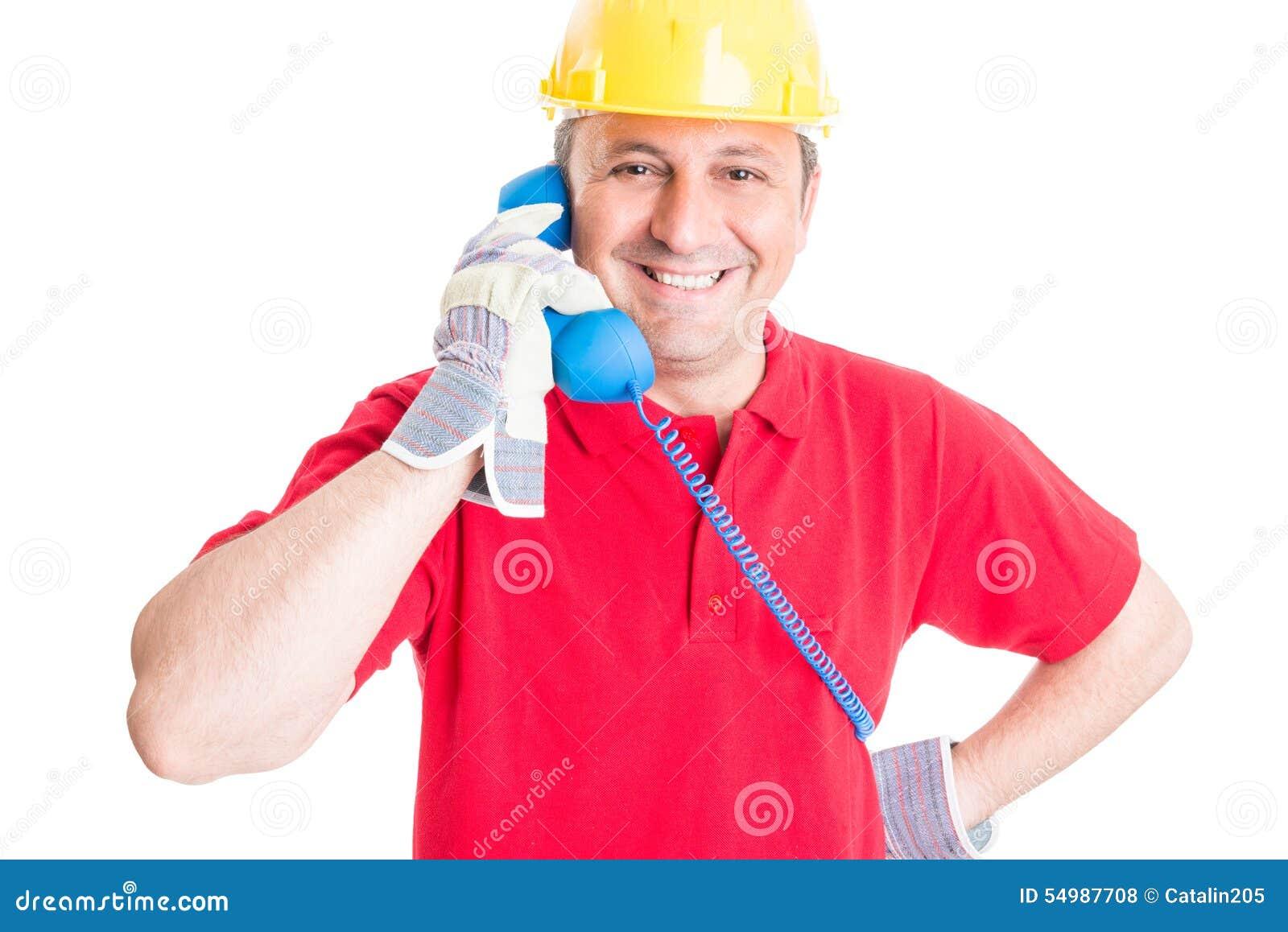 Vänlig person för kontakt för konstruktionsföretag