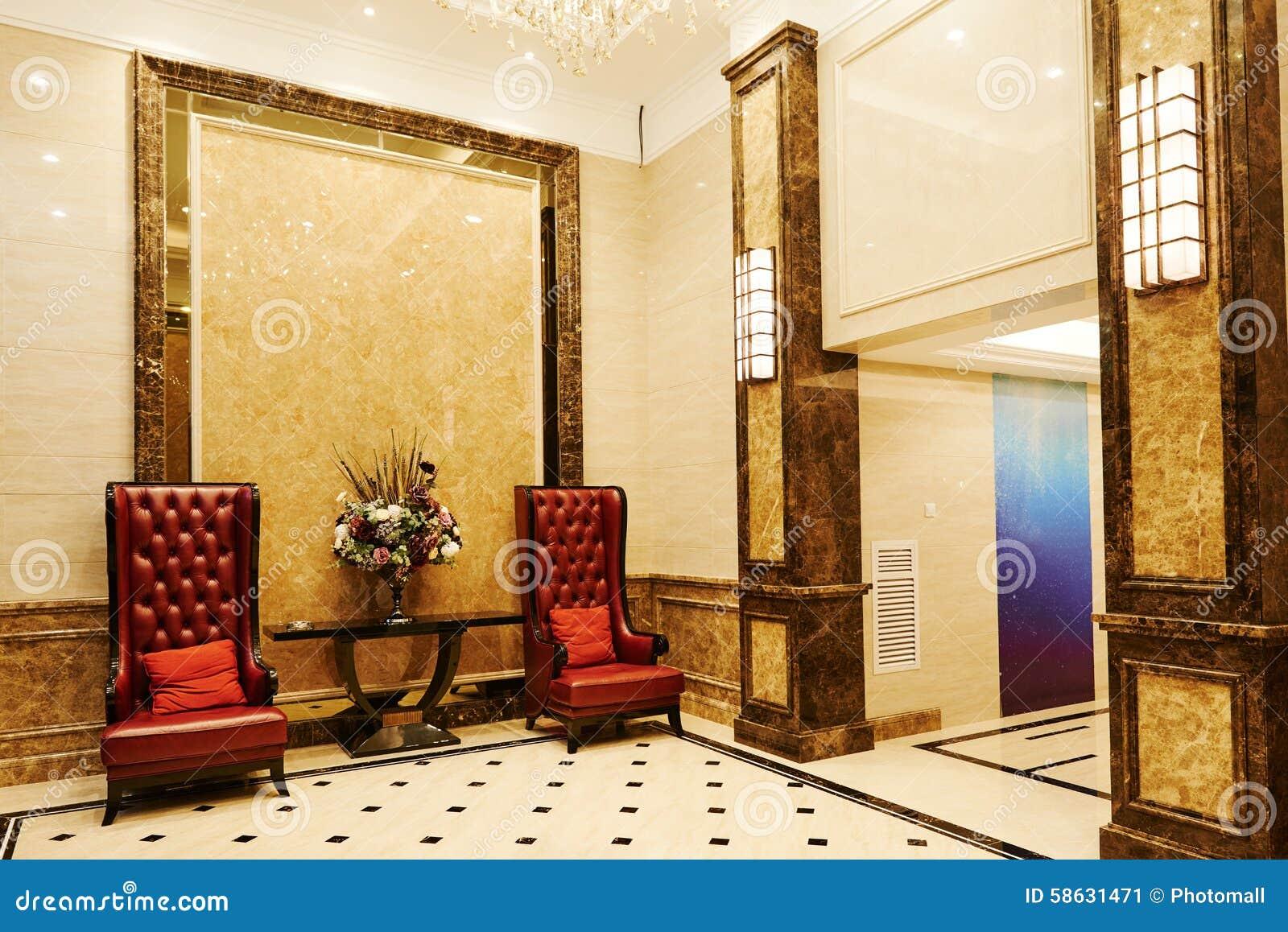 Väntande korridor för hotell