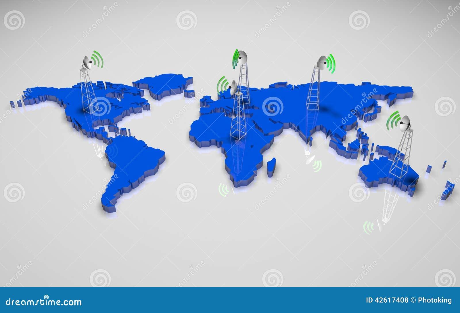 Värld för översikt 3d