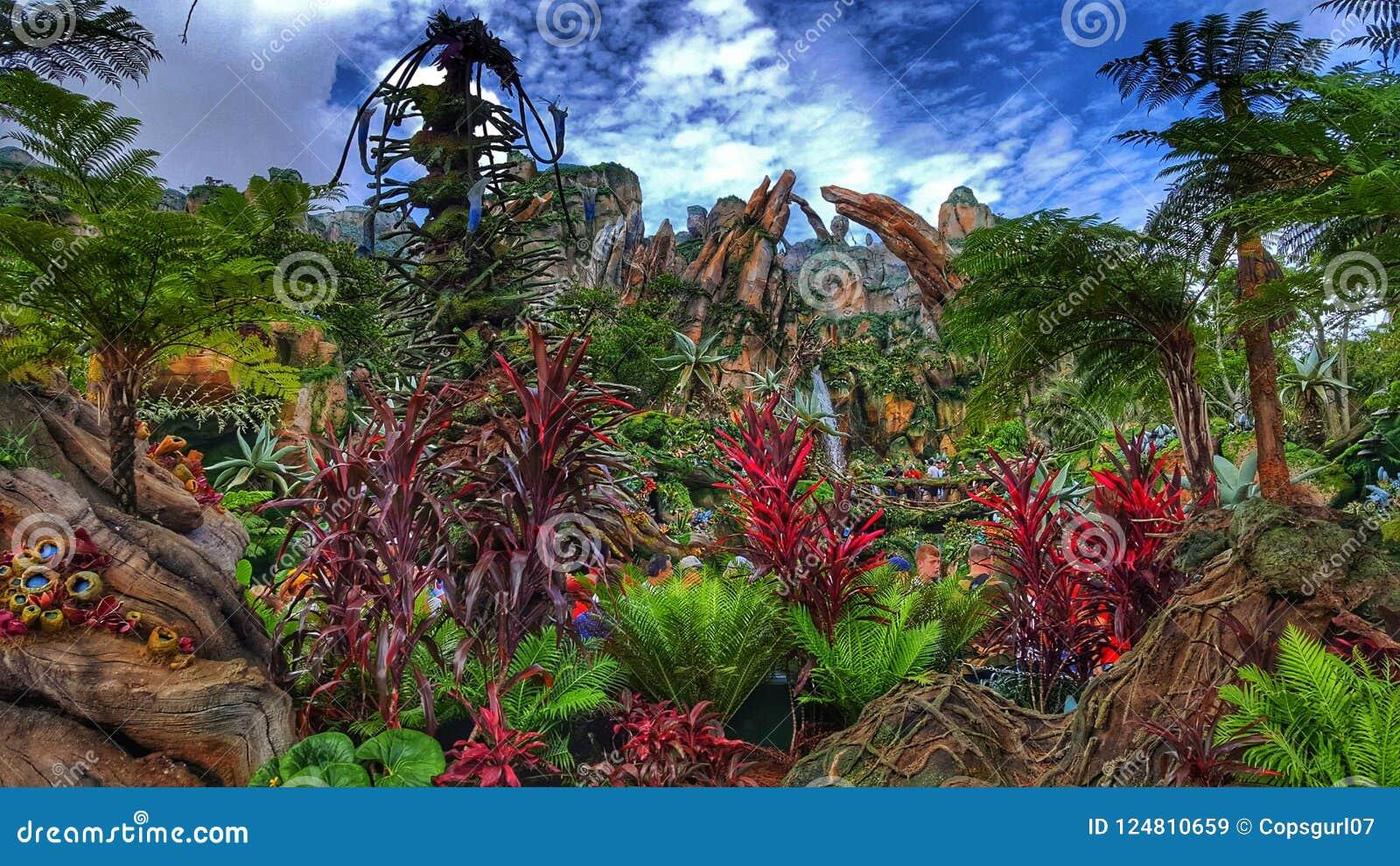 Värld för färger- för Pandora ` s av avataren på djurriketen för Disney ` s