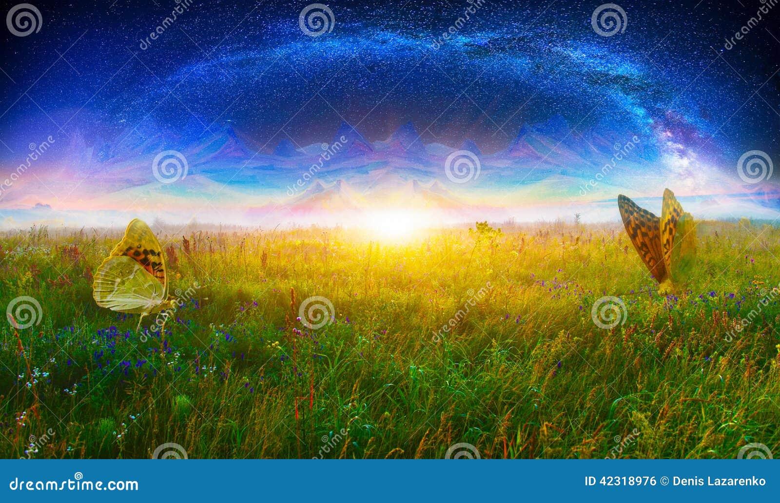Värld för grunge för bakgrundsbokfantasi magisk vertikal