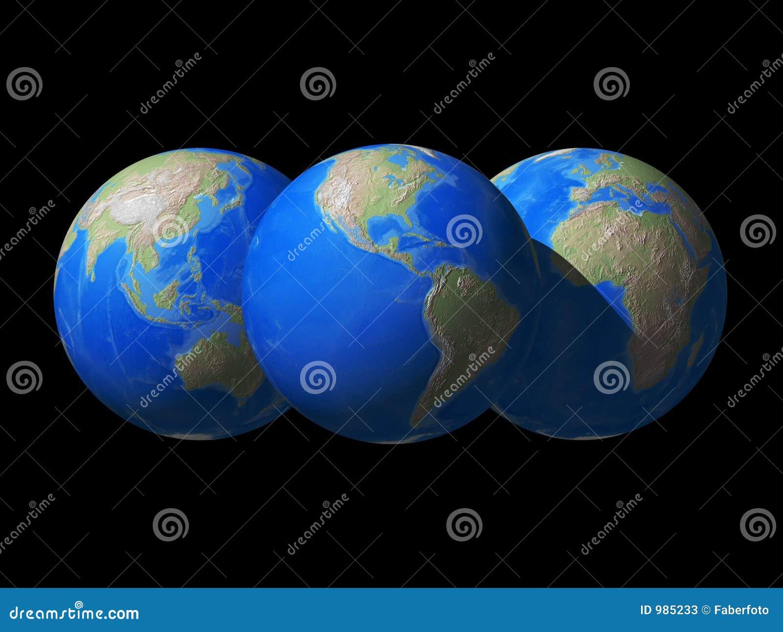 Värld för jordklotavståndssikt