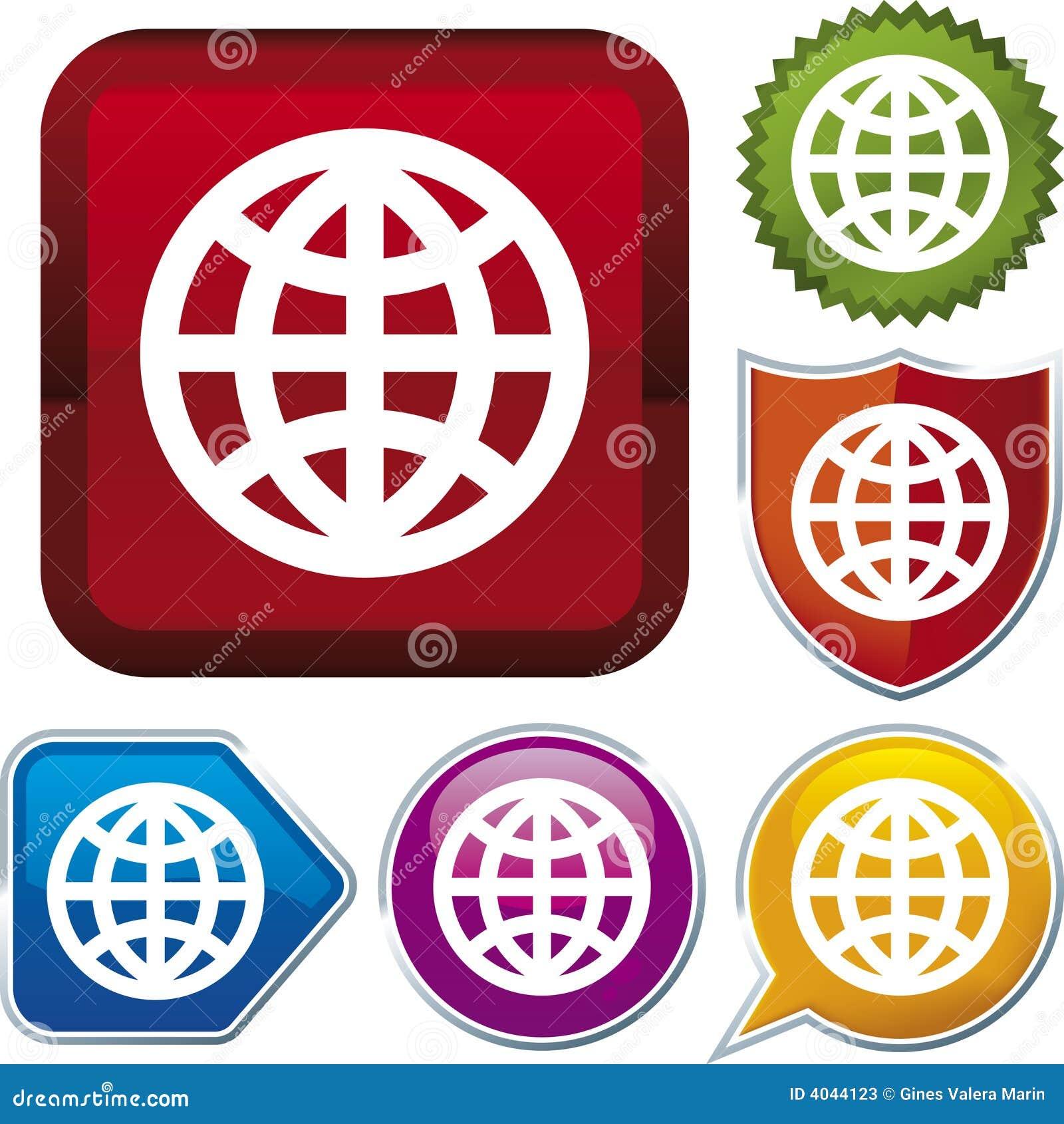 Värld för symbolsserievektor