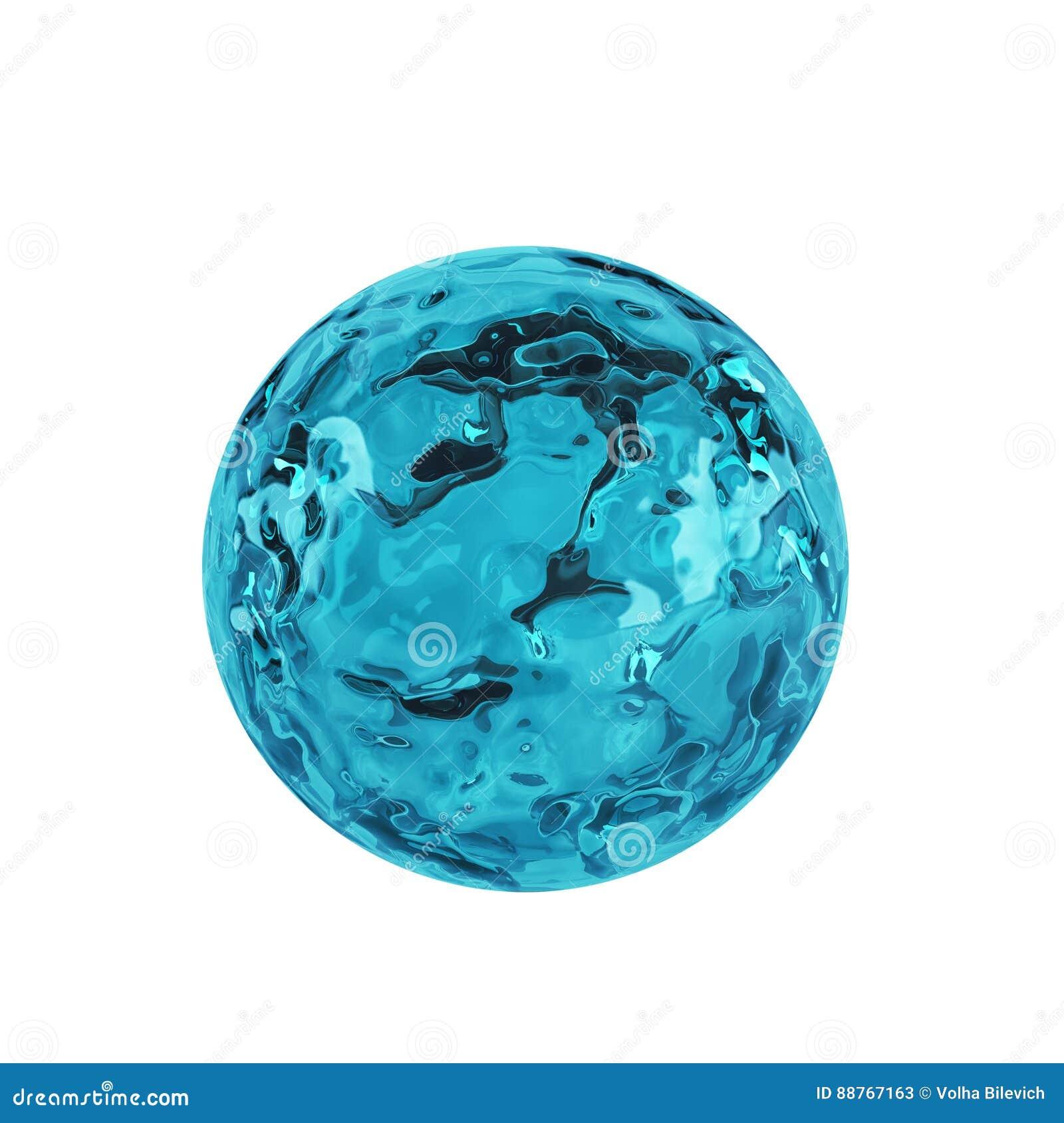 Värld med vatten inom 3d framför