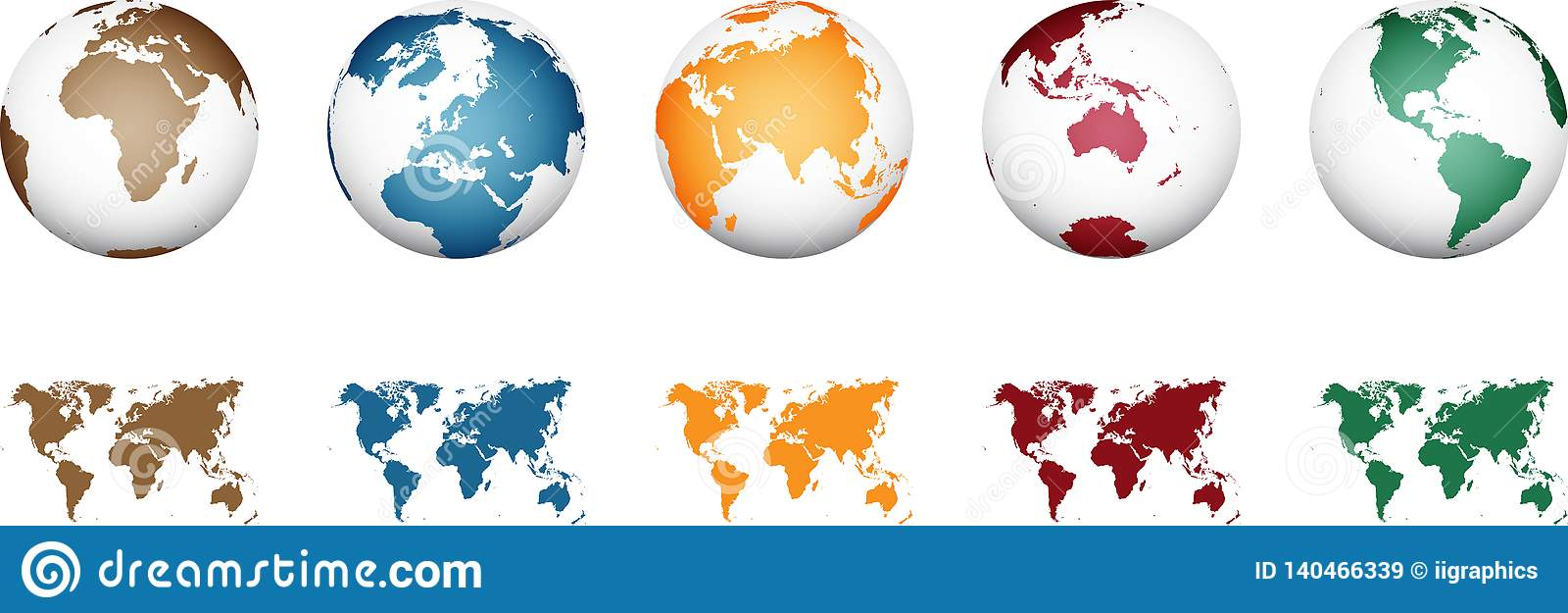 Världskarta - hög detaljerad vektor