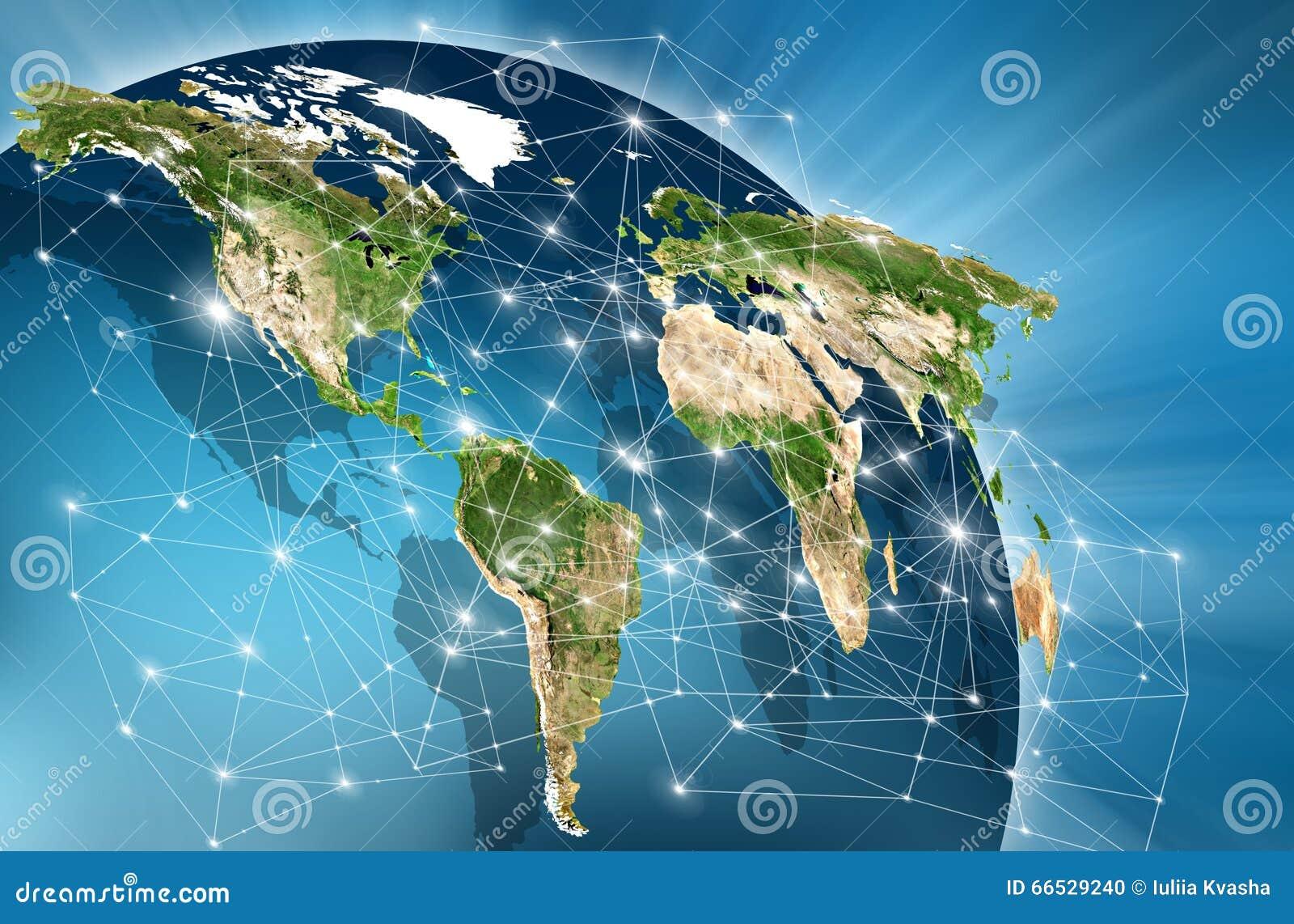 Världskarta på en teknologisk bakgrund globala internet för bäst affärsidé Beståndsdelar av detta bild som förbi möbleras