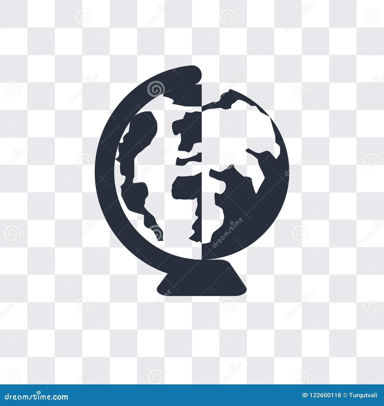 Världsomspännande vektorsymbol som isoleras på genomskinlig bakgrund, världsomspännande logodesign